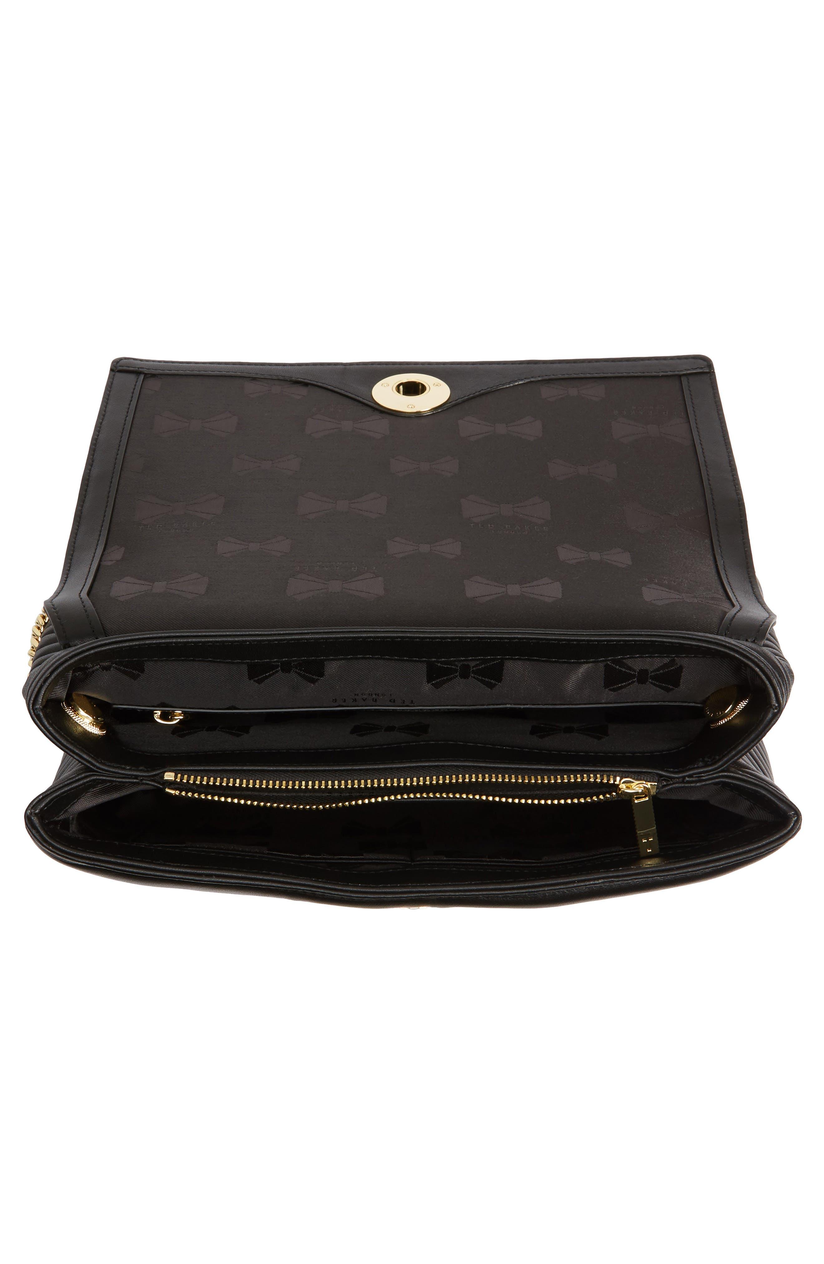 Vivida Quilted Leather Shoulder Bag,                             Alternate thumbnail 4, color,                             001