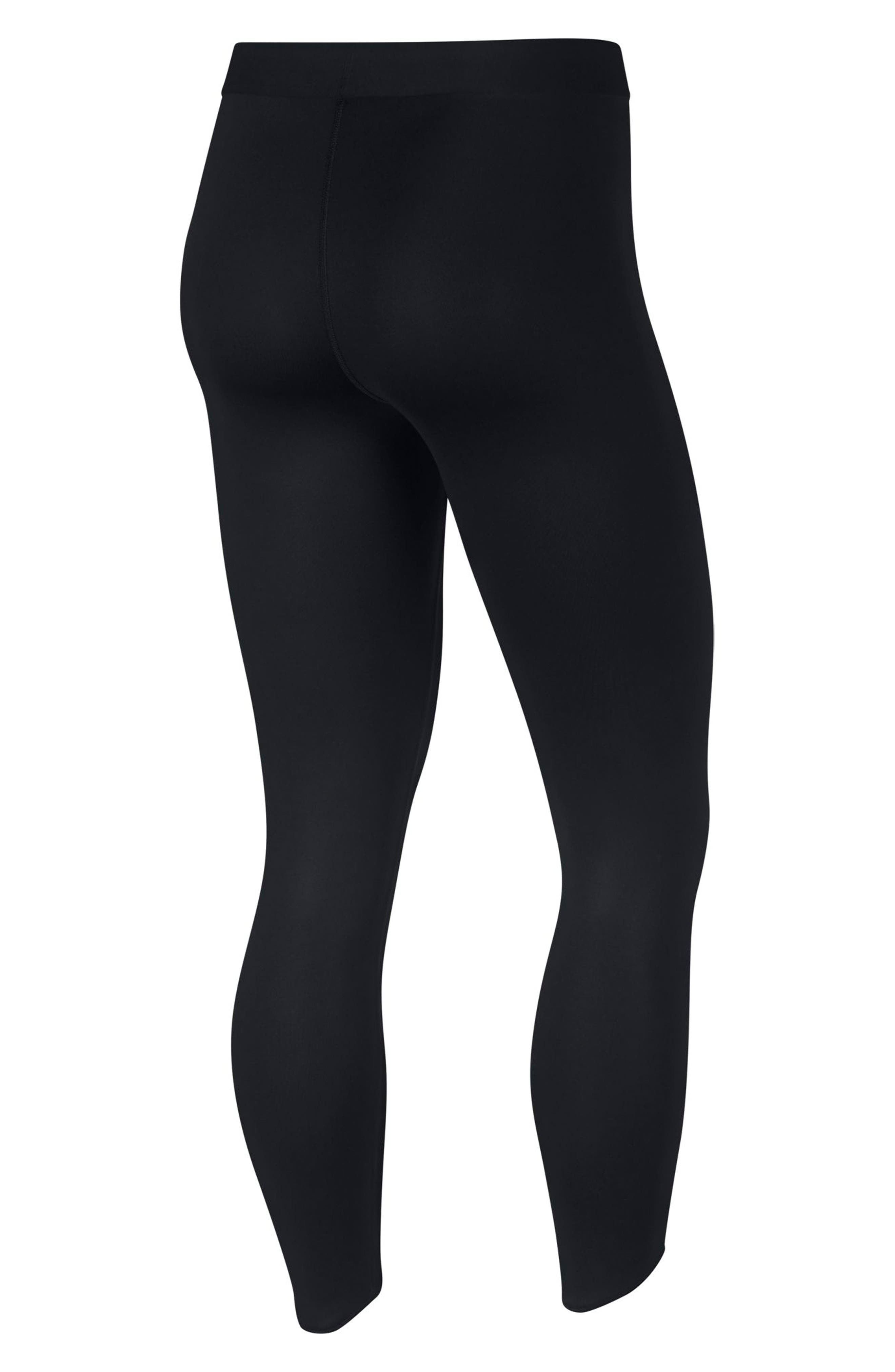 Pro Embossed Logo 7/8 Tights,                             Alternate thumbnail 2, color,                             010