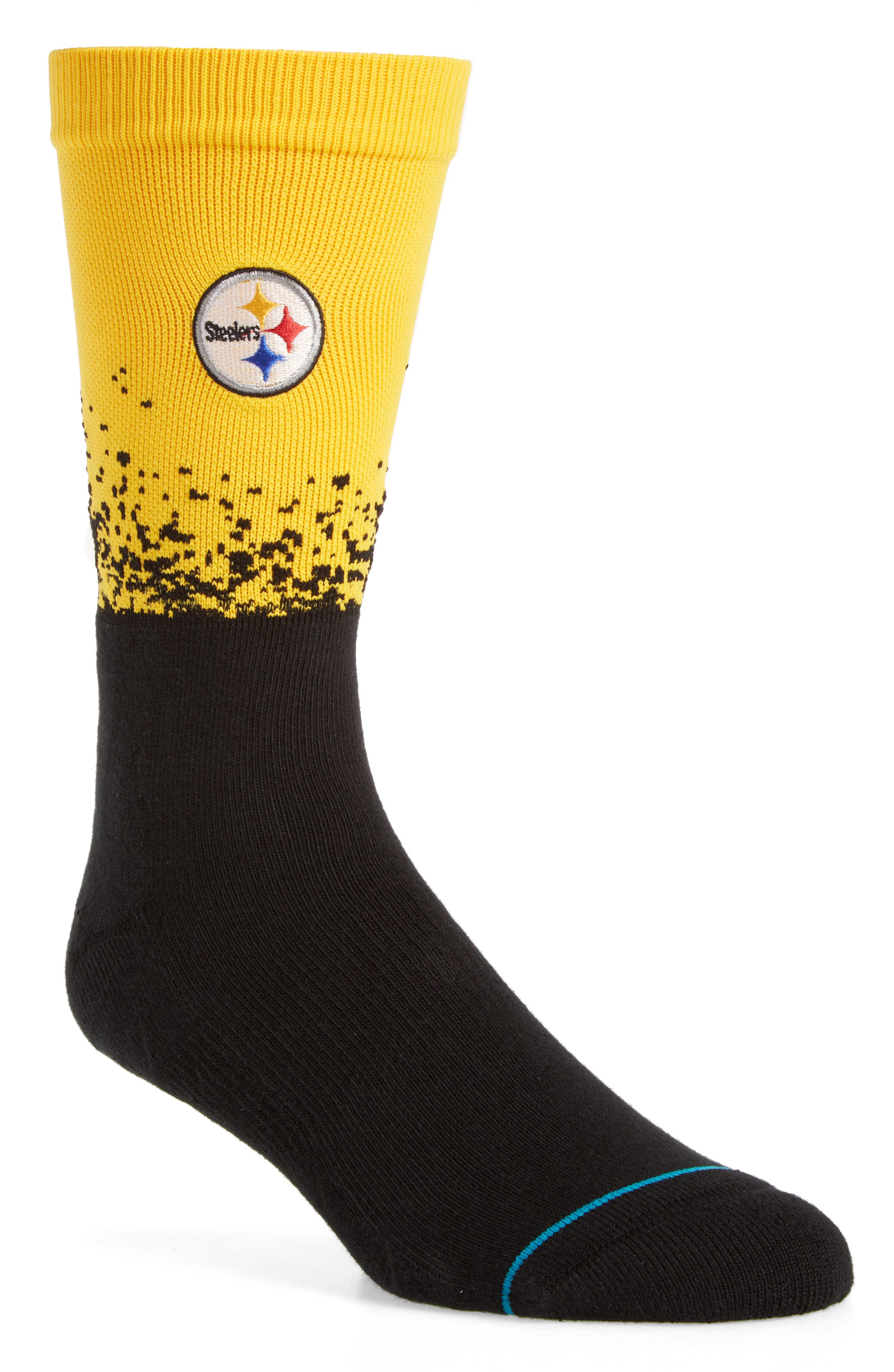 Pittsburgh Steelers - Fade Socks,                         Main,                         color, YELLOW