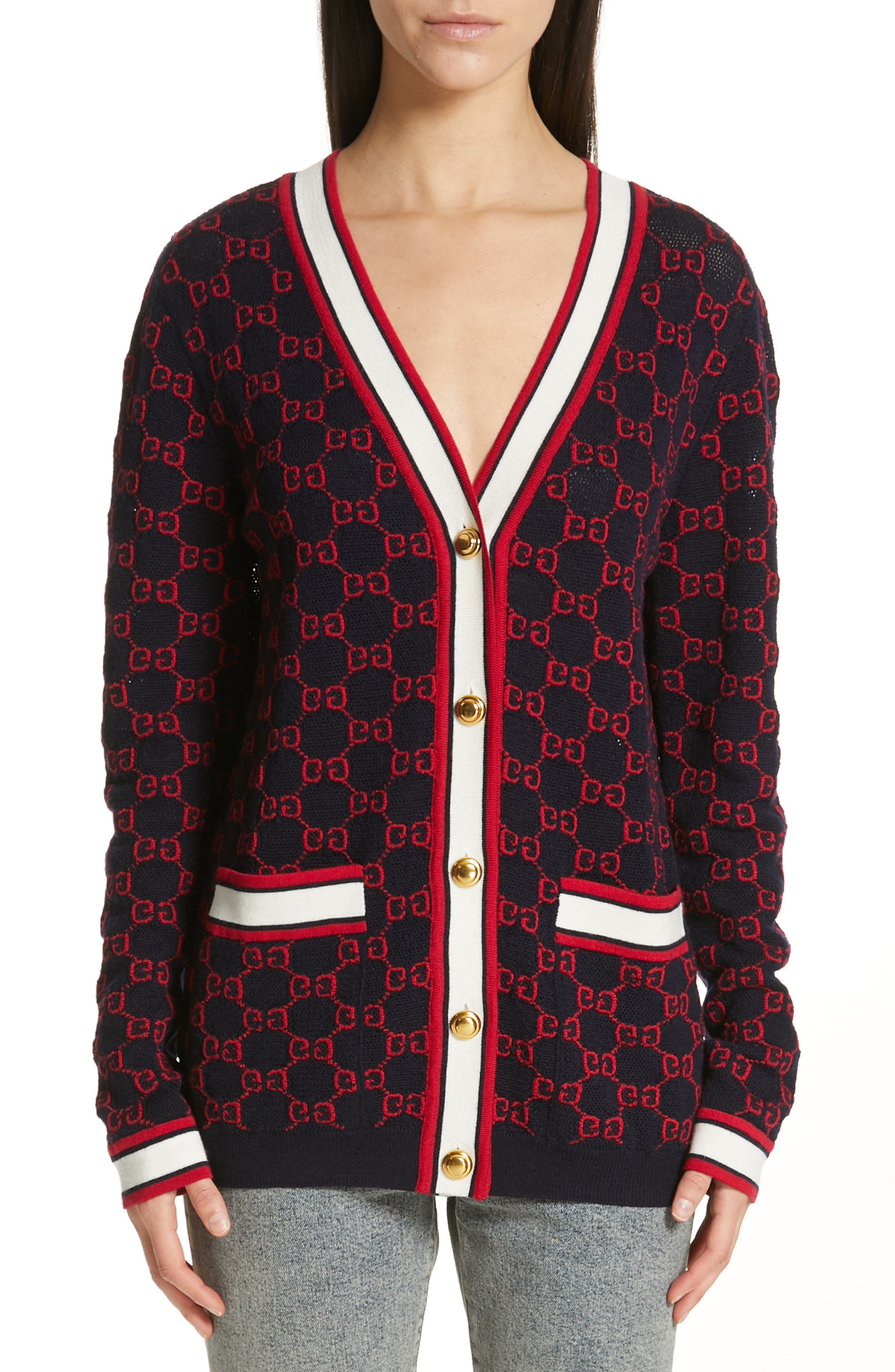 Gg Wool Cardigan by Gucci