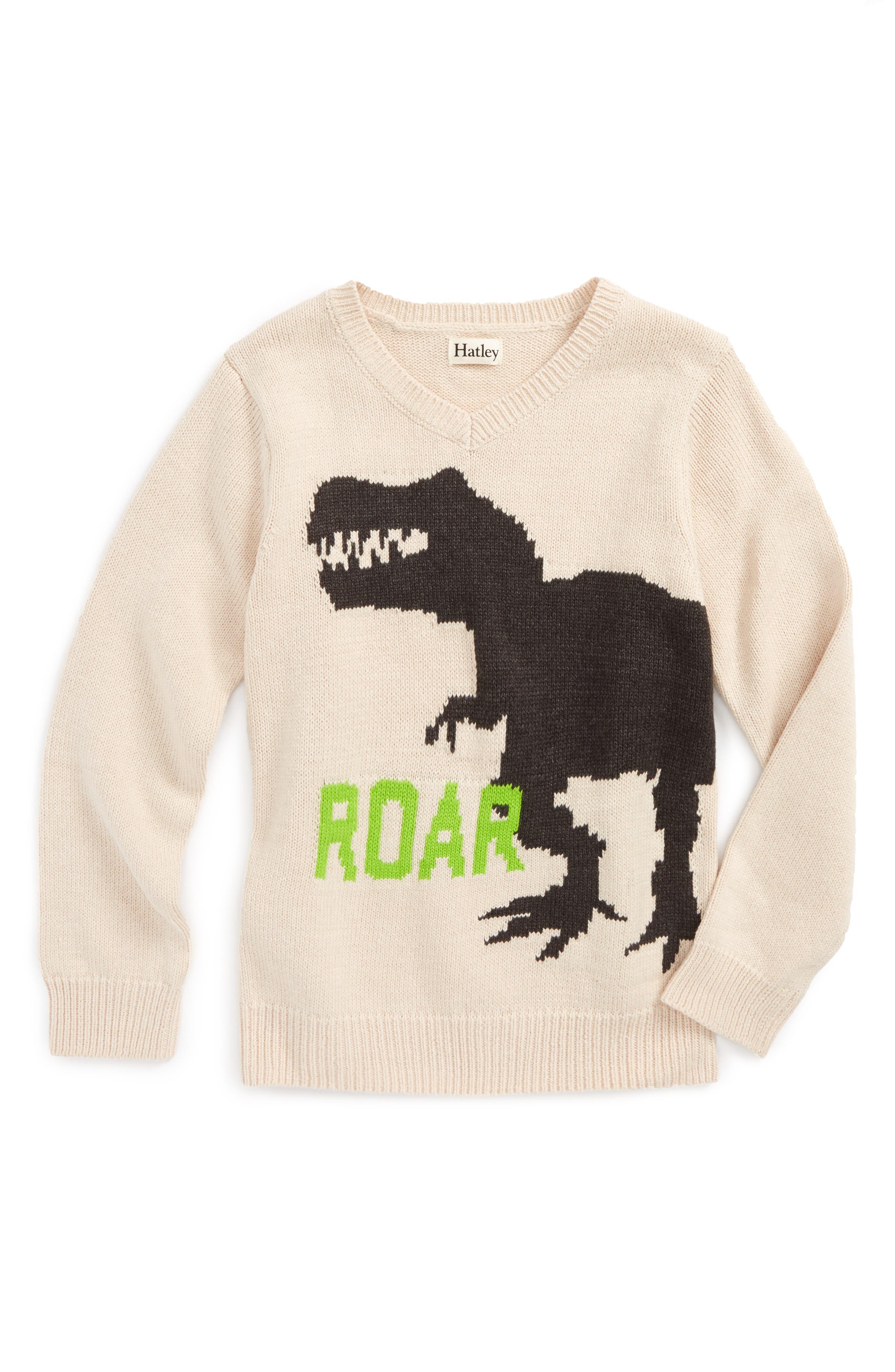 Intarsia V-Neck Sweater,                             Main thumbnail 1, color,