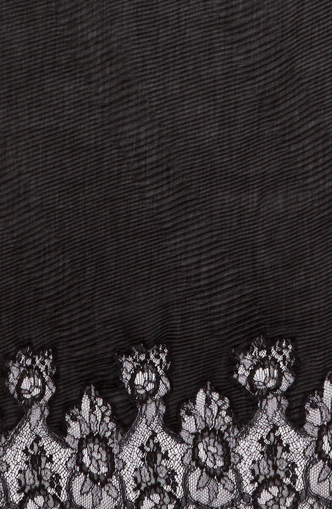 VALENTINO,                             Cashmere & Wool Wrap,                             Alternate thumbnail 4, color,                             NERO/ NERO
