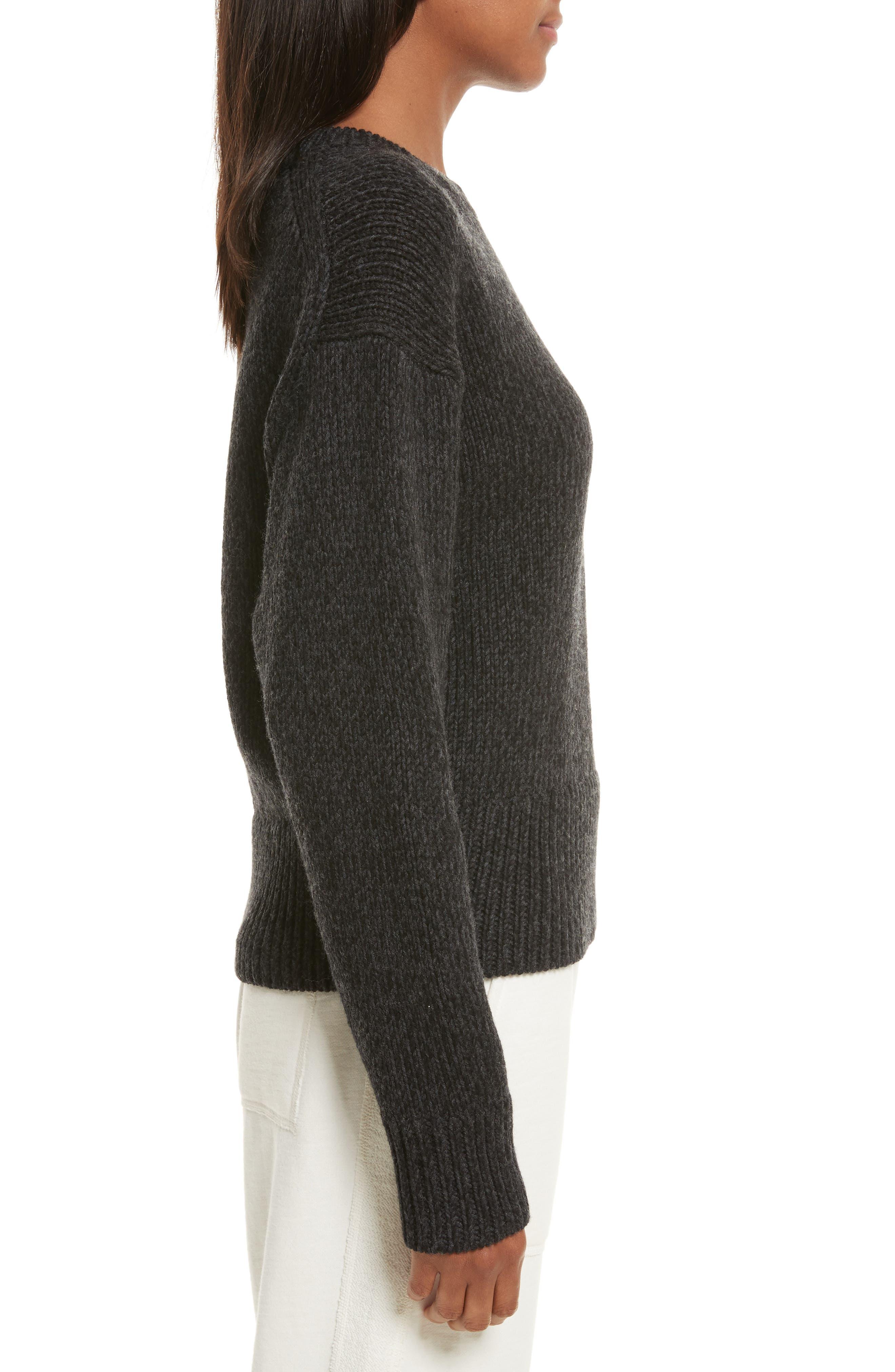 Sheila Crewneck Sweater,                             Alternate thumbnail 3, color,                             020