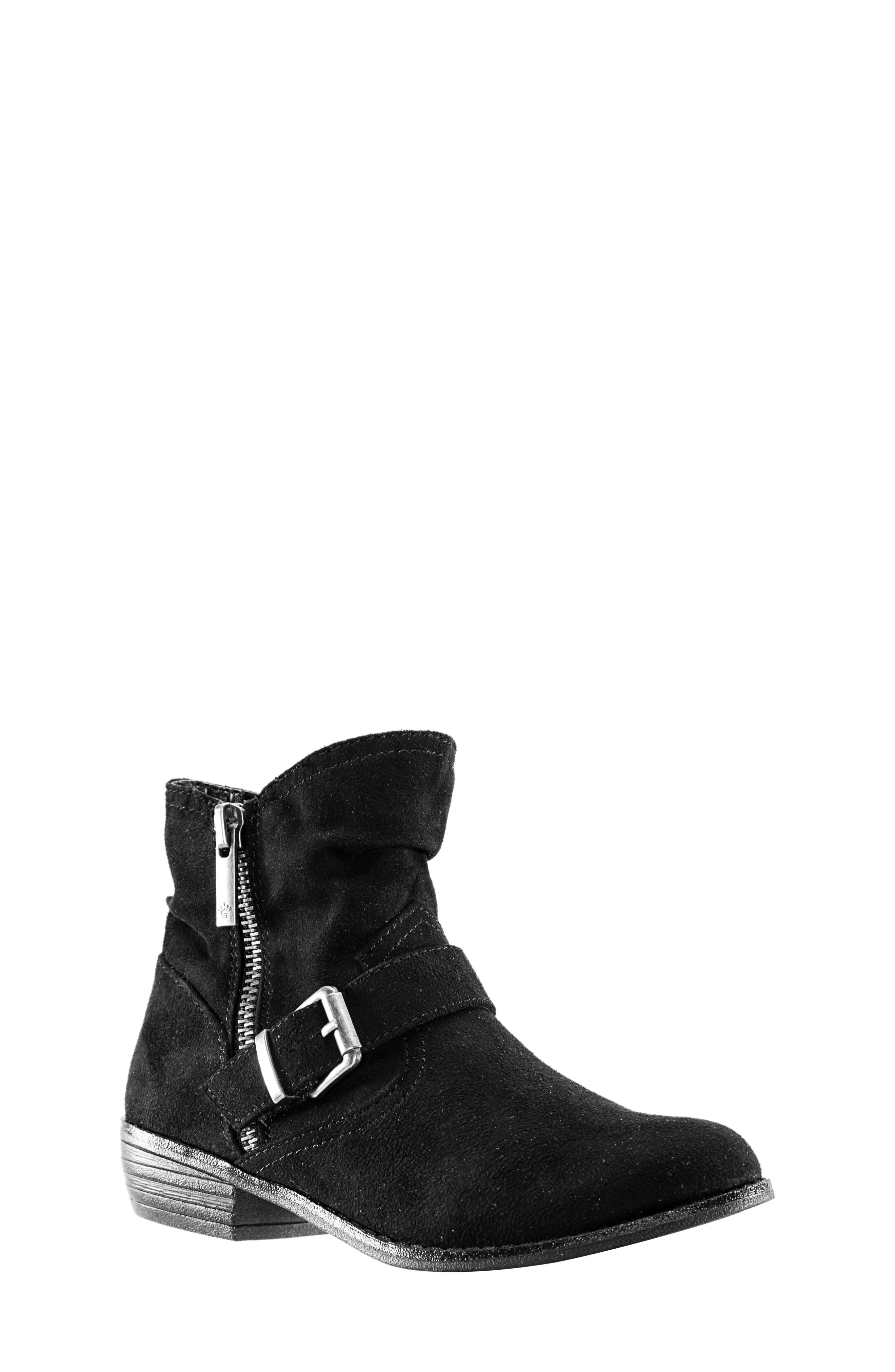 Dorrie Moto Bootie,                             Main thumbnail 1, color,                             BLACK BURNISHED