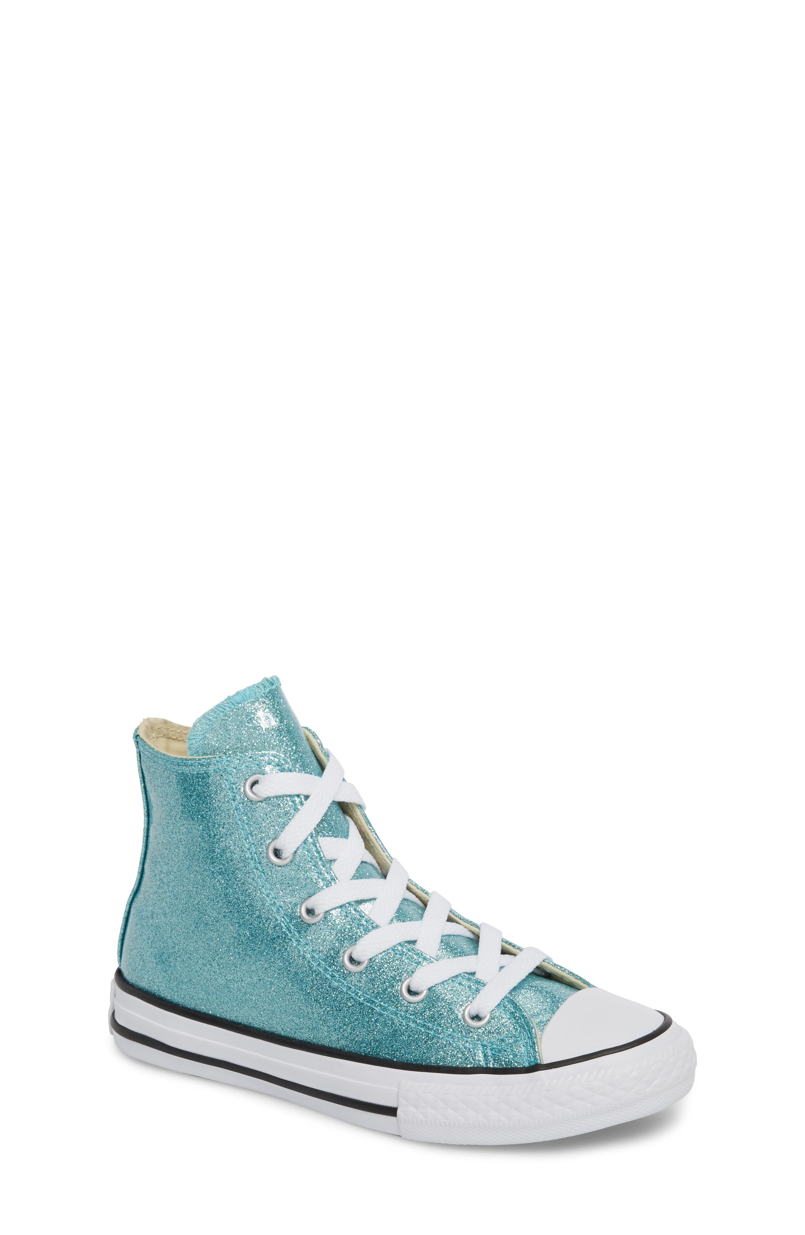 All Star<sup>®</sup> Glitter High Top Sneaker,                         Main,                         color, 400