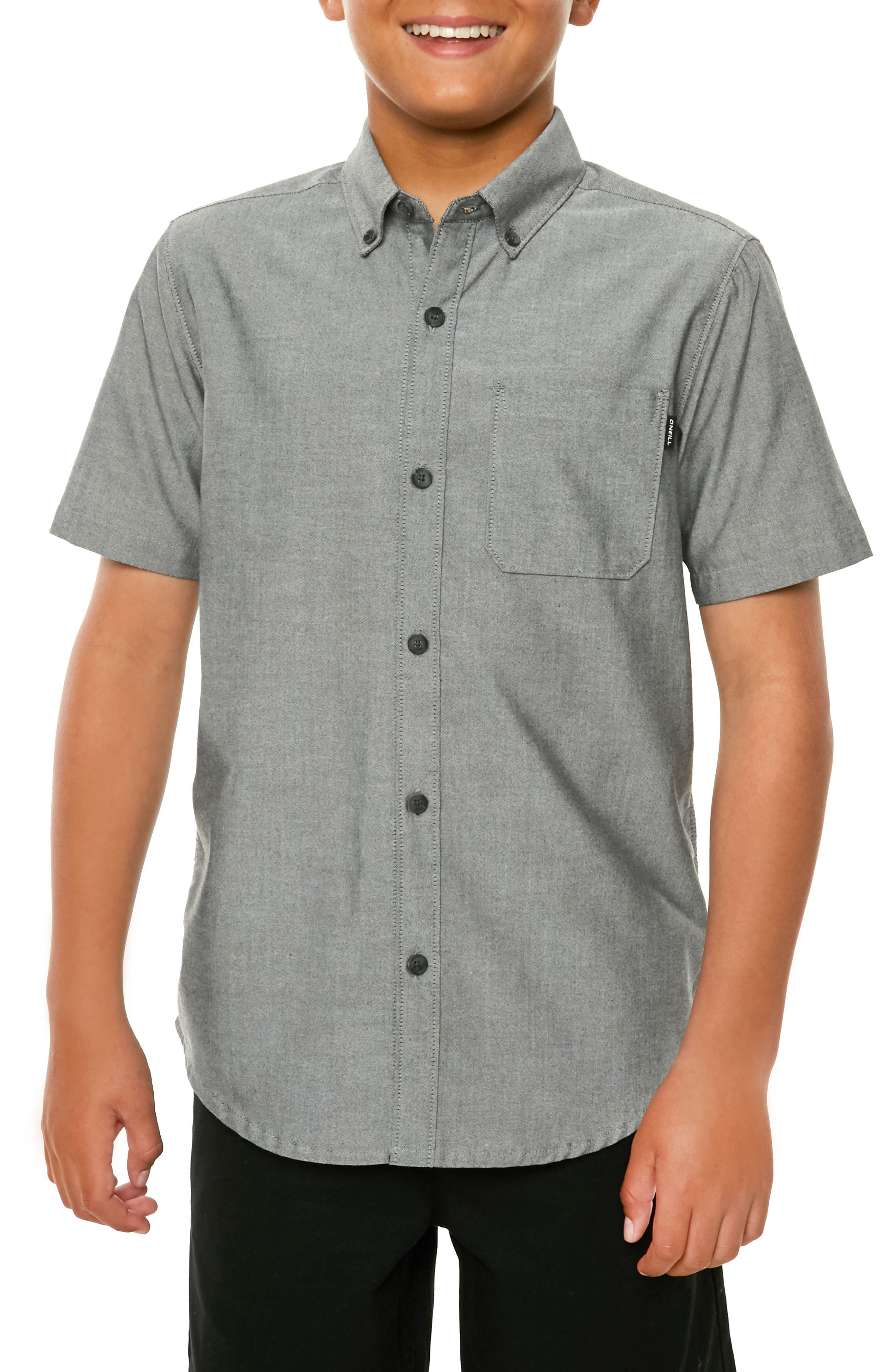 Bank Woven Shirt,                             Alternate thumbnail 2, color,                             001