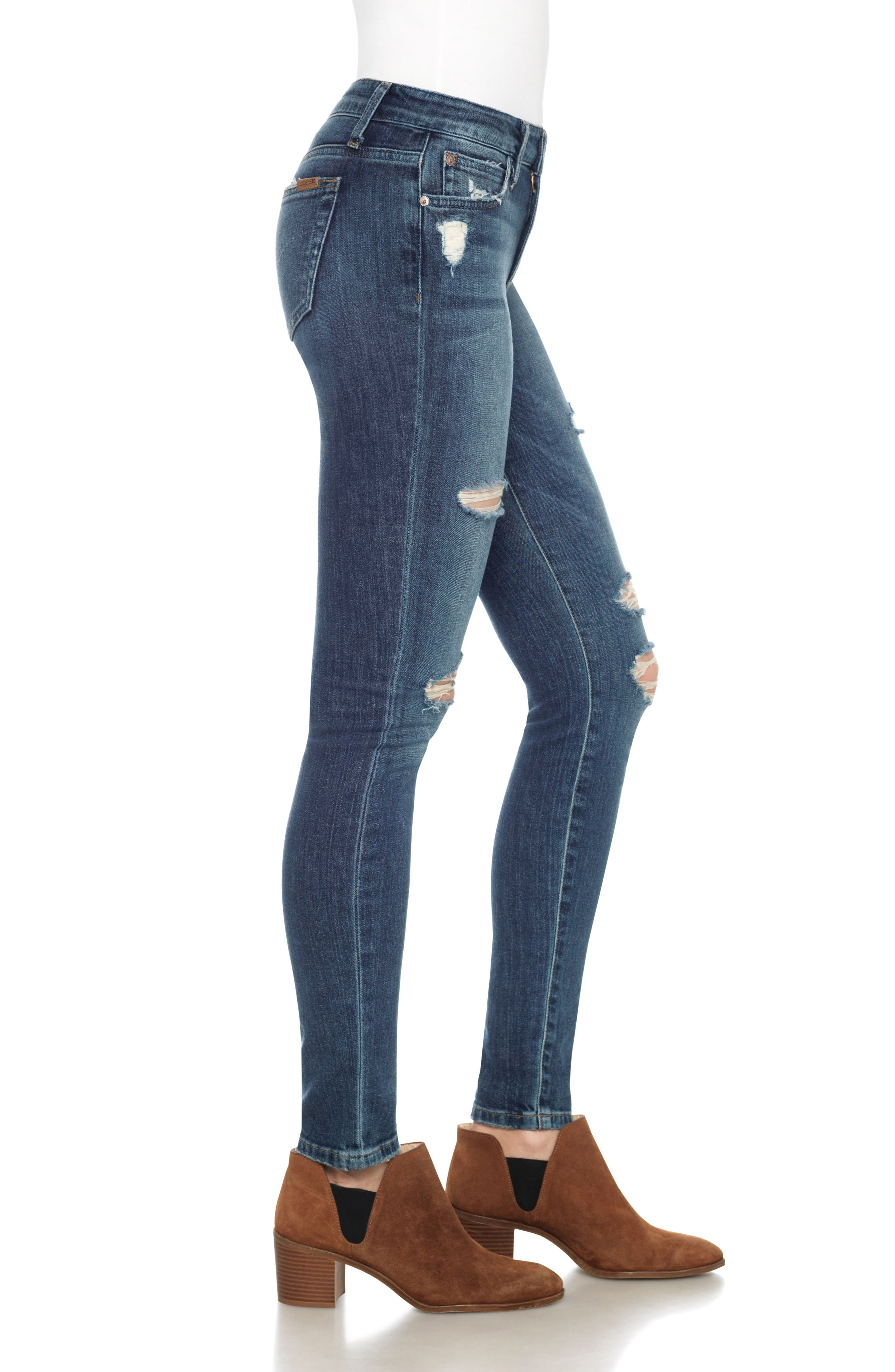 'The Icon' Skinny Jeans,                             Alternate thumbnail 3, color,                             410