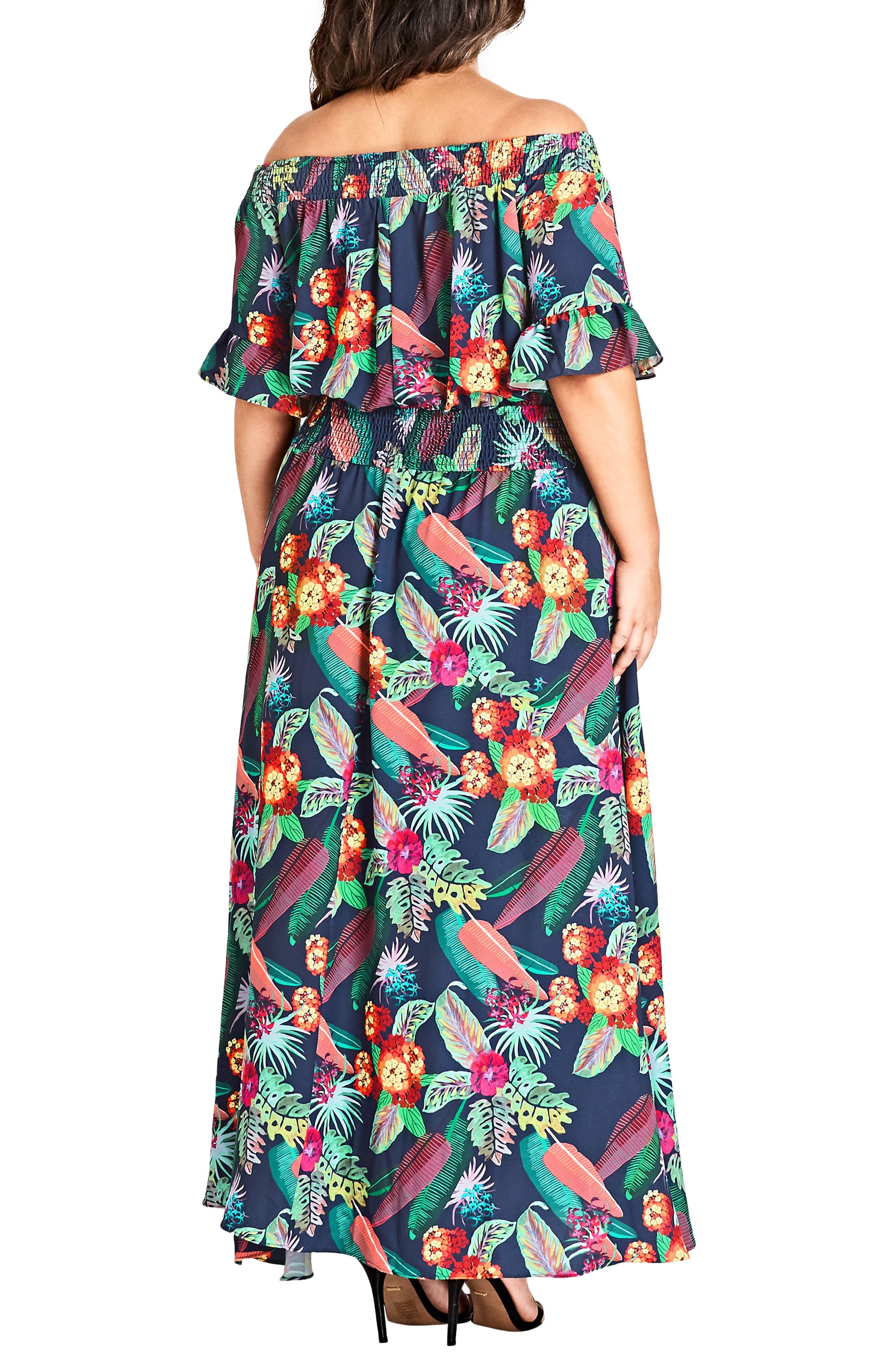 CITY CHIC,                             Jungle Jam Maxi Dress,                             Alternate thumbnail 2, color,                             415