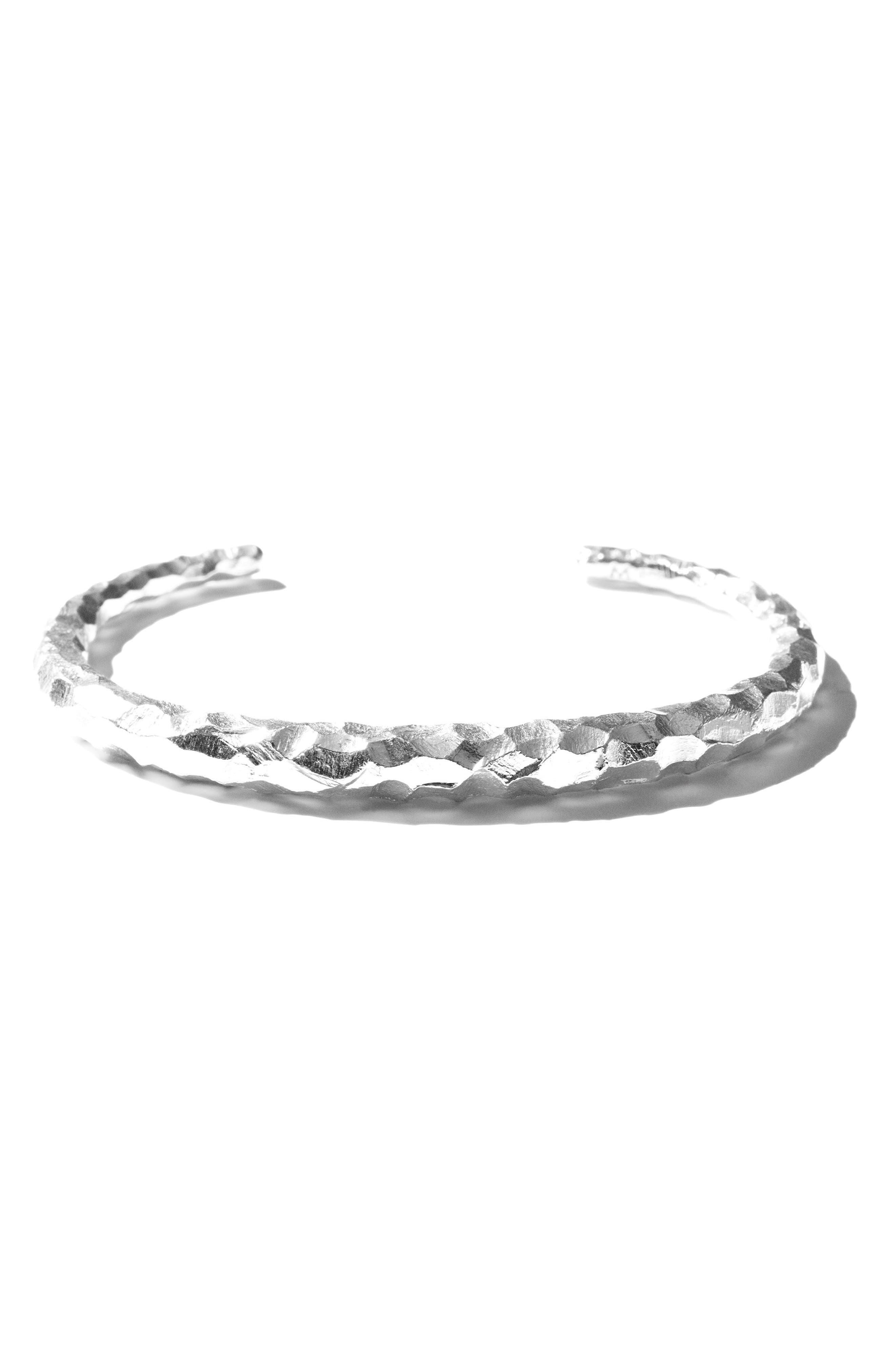 Large Snake Carved Silver Bracelet,                             Alternate thumbnail 6, color,                             CARVED SILVER