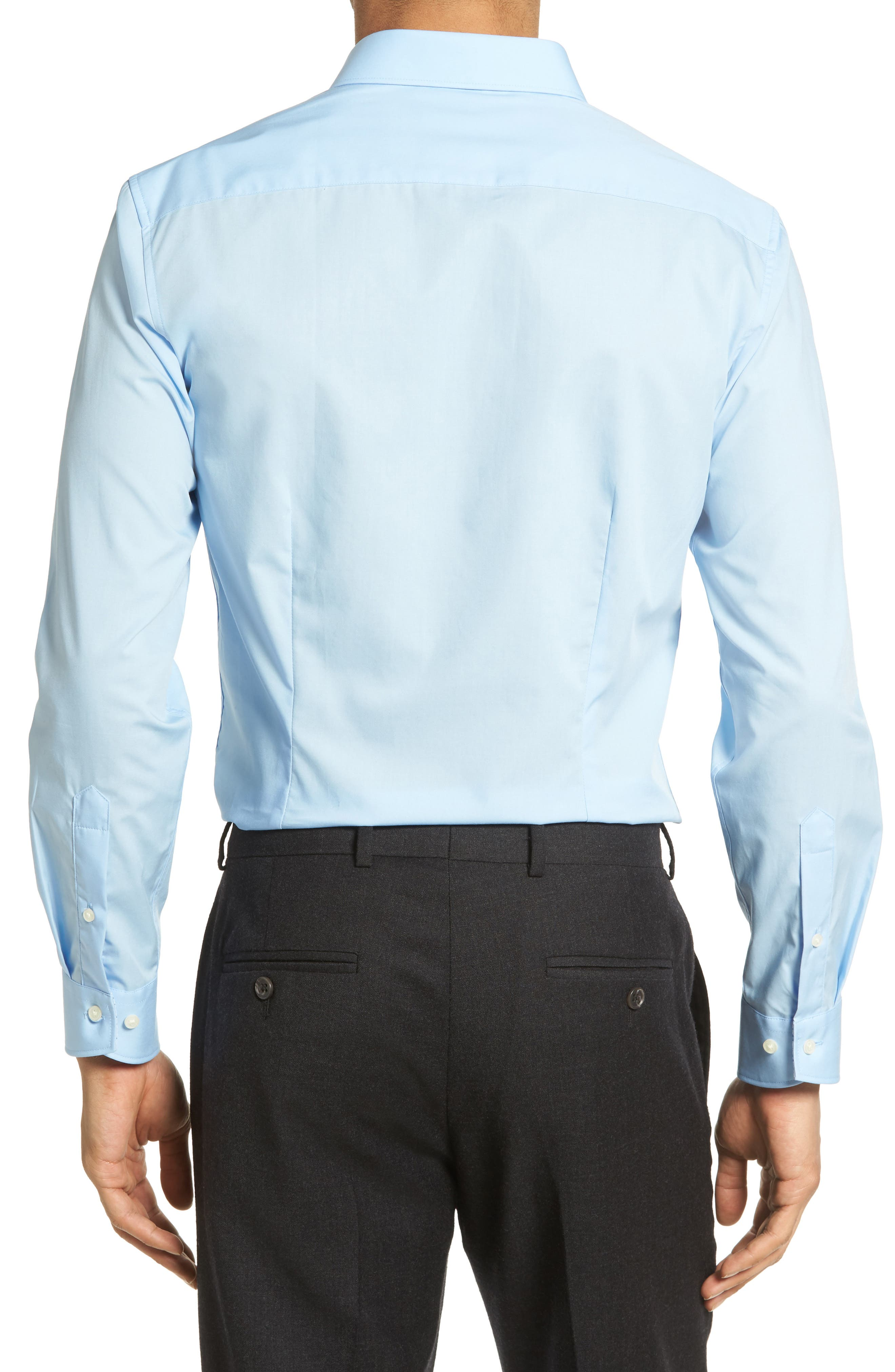 Booker Slim Fit Dress Shirt,                             Alternate thumbnail 4, color,