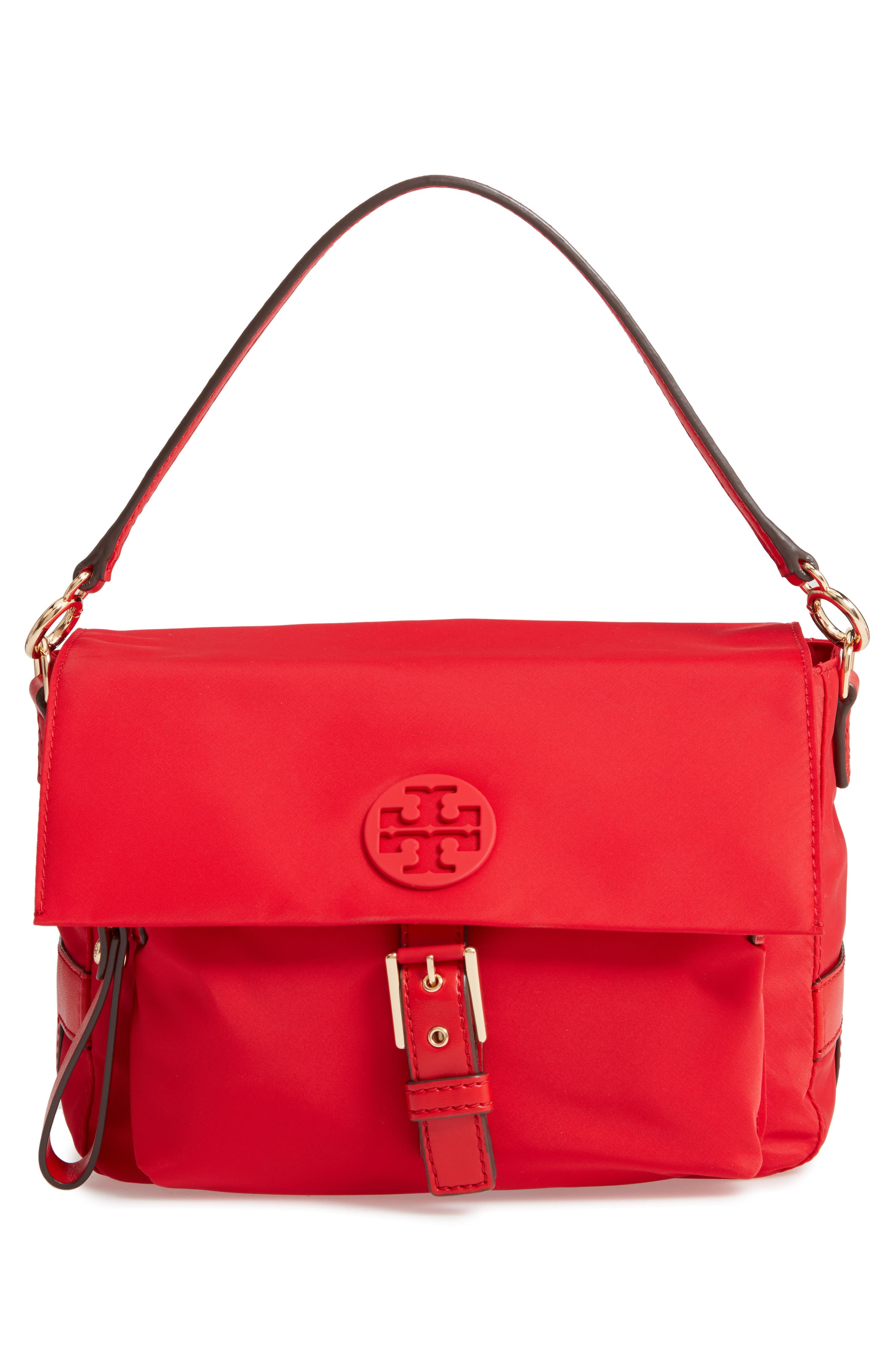 Tilda Nylon Crossbody Bag,                             Alternate thumbnail 3, color,                             BRILLIANT RED