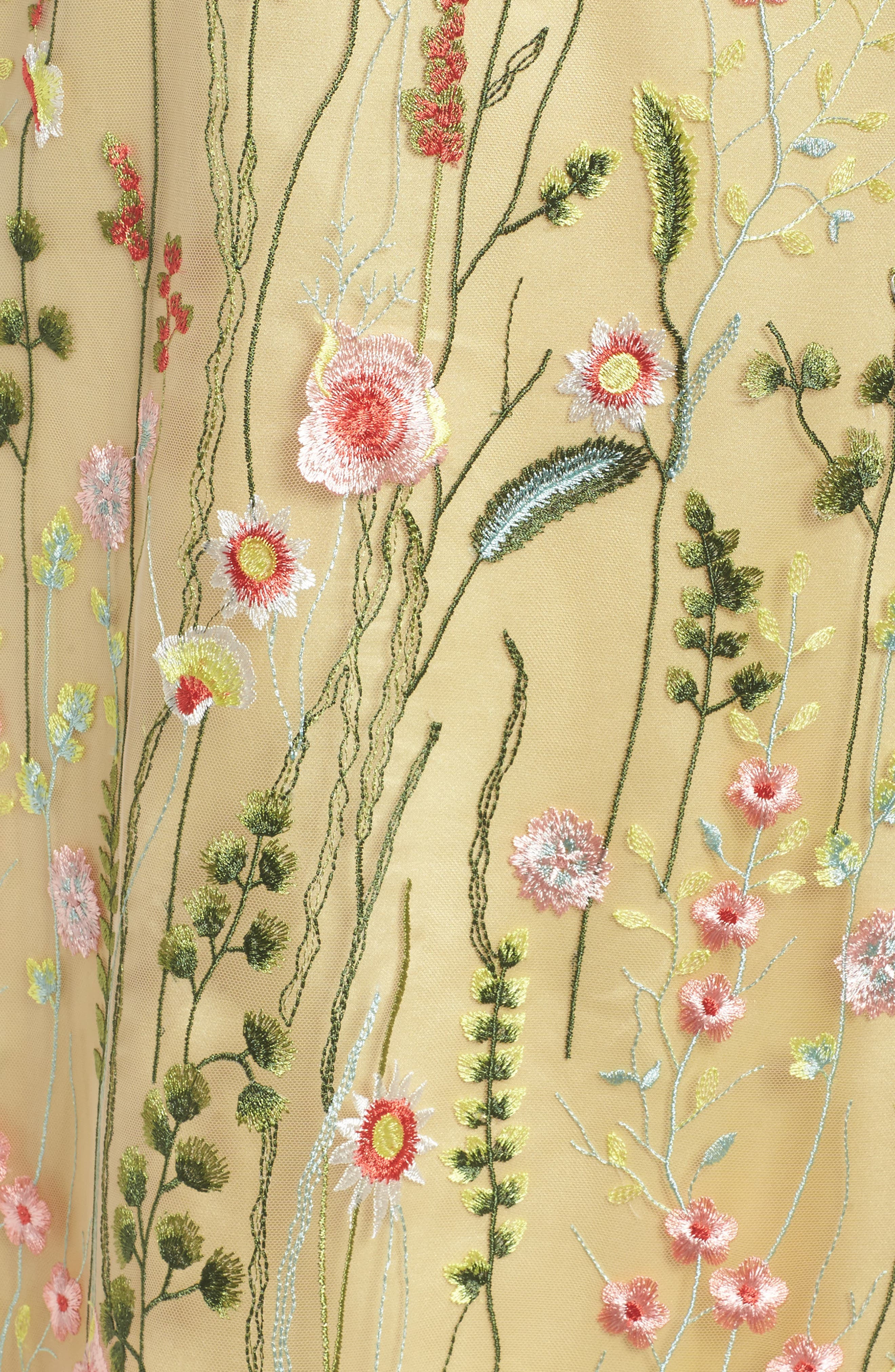Floral Embroidered Shift Dress,                             Alternate thumbnail 5, color,                             798