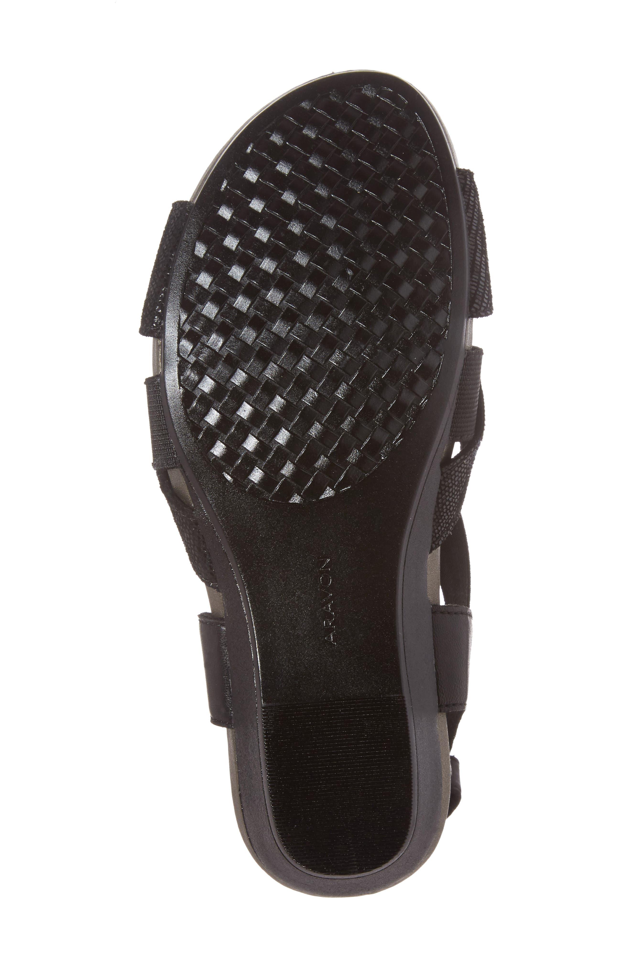Standon Cross Strap Sandal,                             Alternate thumbnail 6, color,                             001