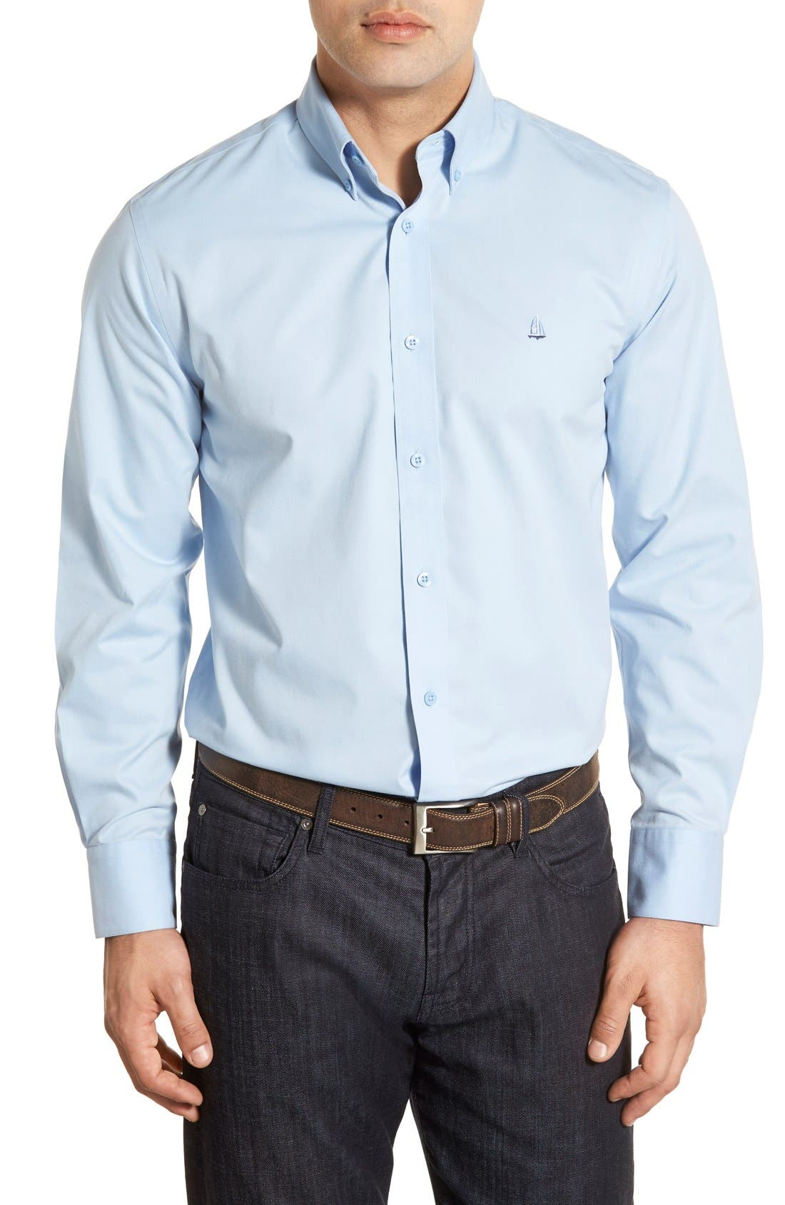 Smartcare<sup>™</sup> Traditional Fit Twill Boat Shirt,                             Main thumbnail 29, color,