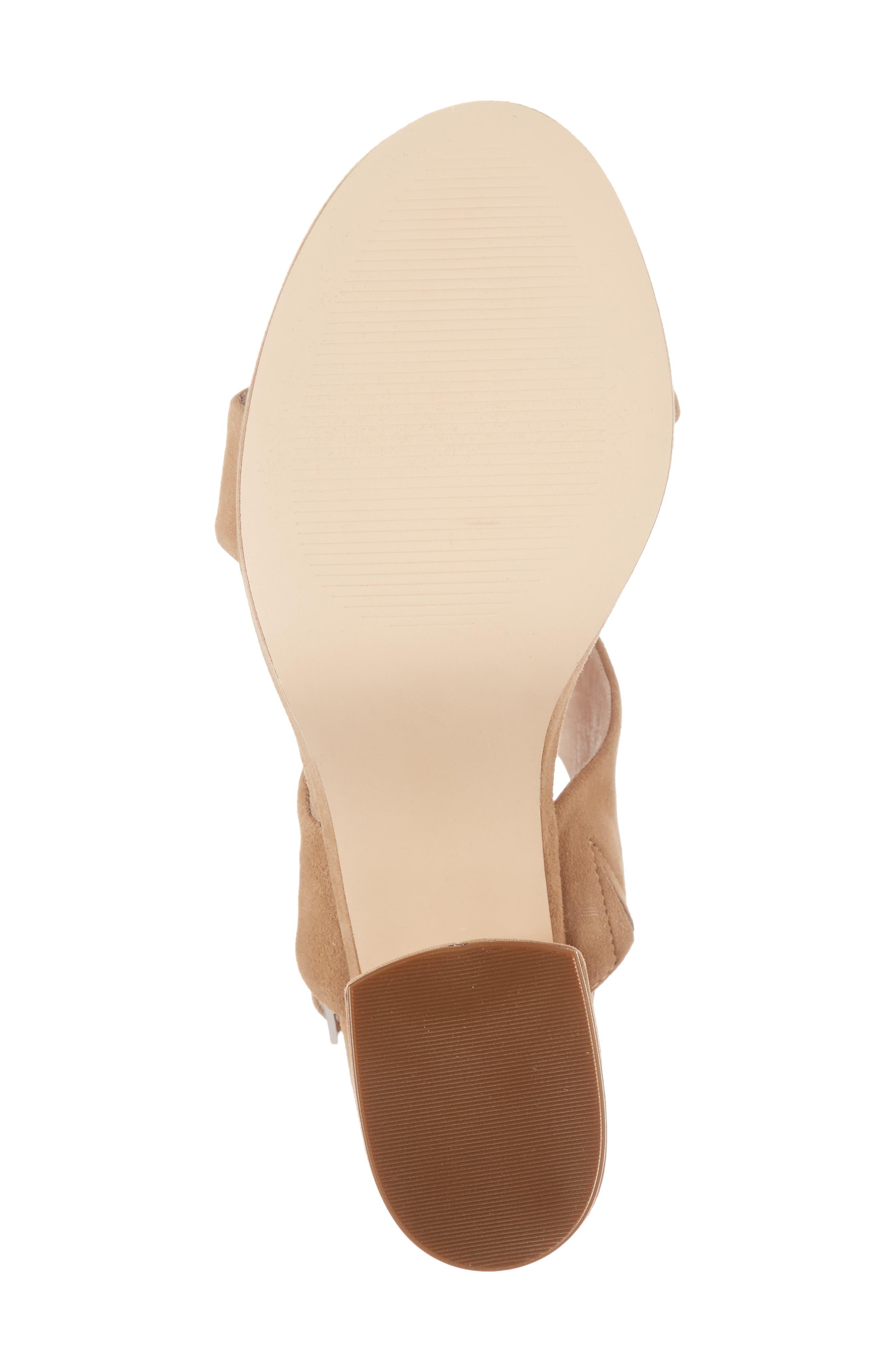 Reba Slingback Platform Sandal,                             Alternate thumbnail 6, color,                             TAN SUEDE