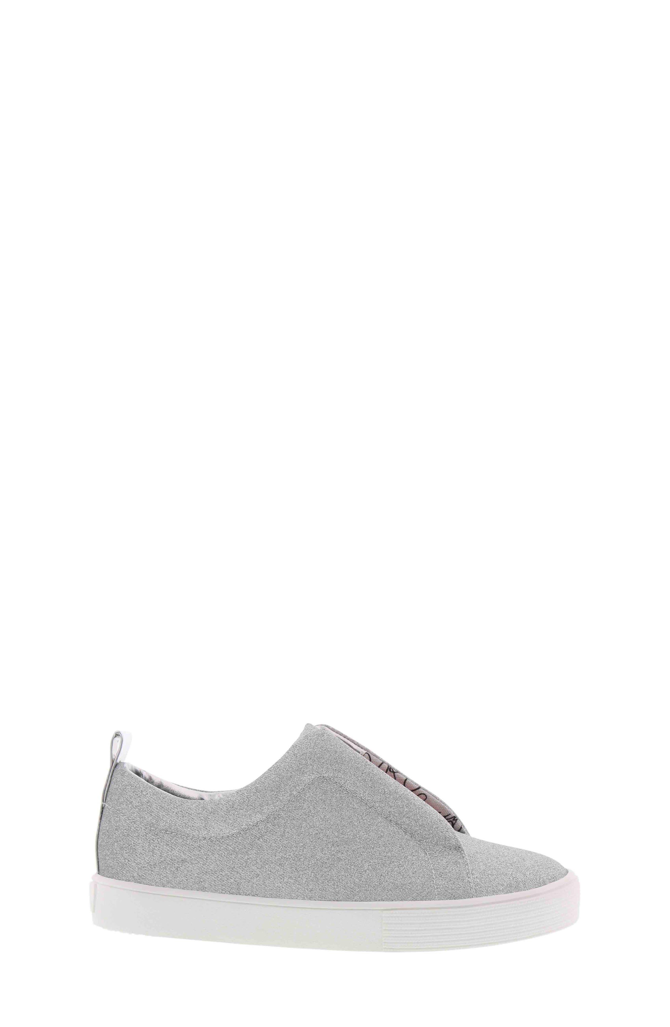 Bella Emma Slip-On Sneaker,                             Alternate thumbnail 3, color,                             SILVER GLITTER