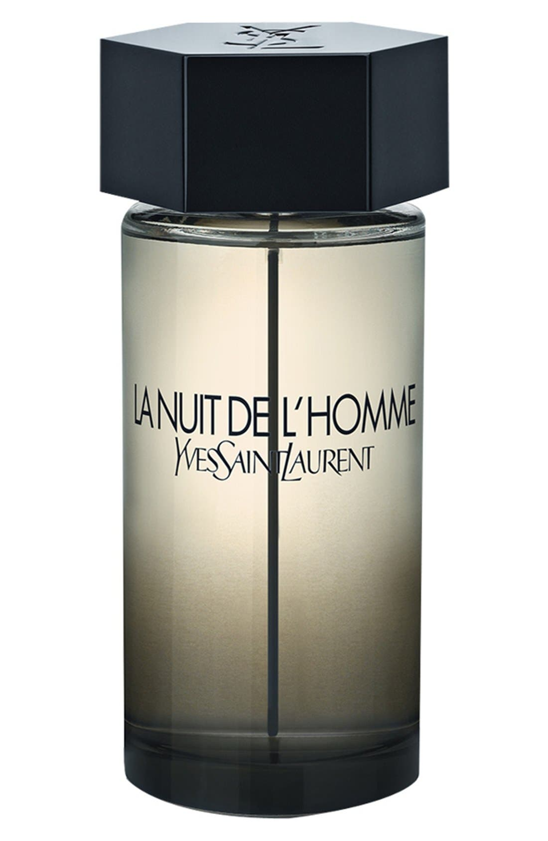 'La Nuit de l'Homme' Eau de Toilette,                             Main thumbnail 1, color,                             NO COLOR