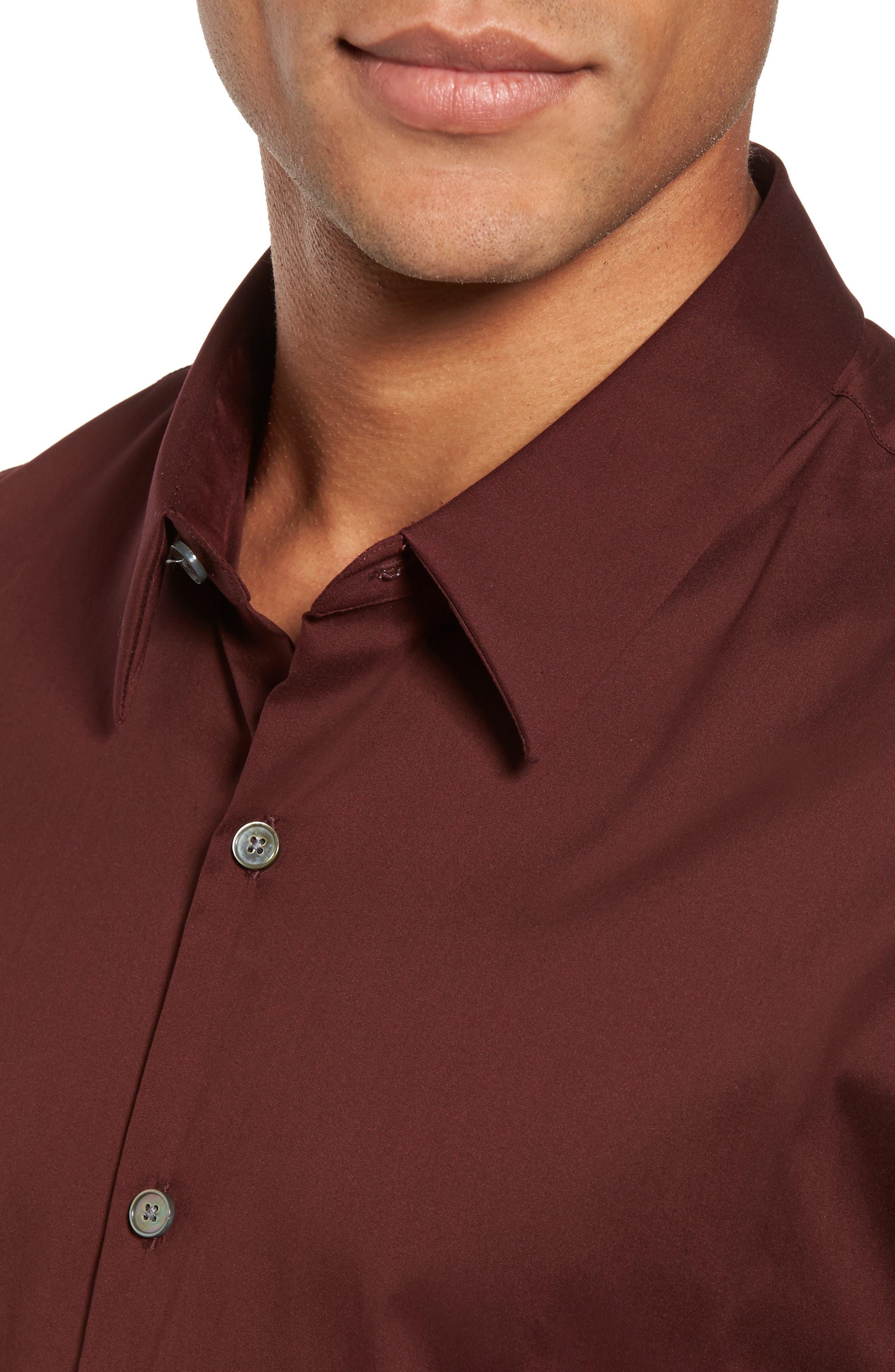 Matte Stretch Poplin Sport Shirt,                             Alternate thumbnail 8, color,