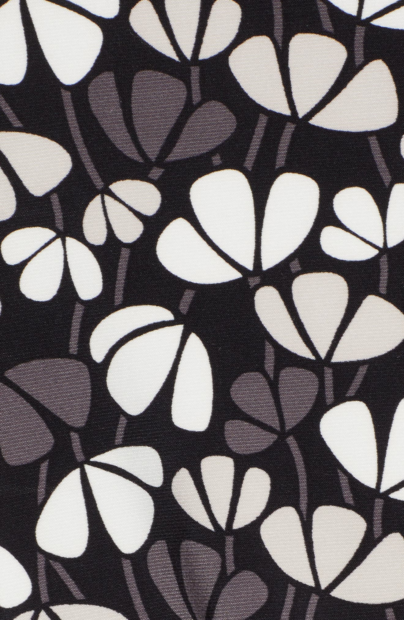 Flowerfall Stretch Knit Swing Dress,                             Alternate thumbnail 6, color,                             001