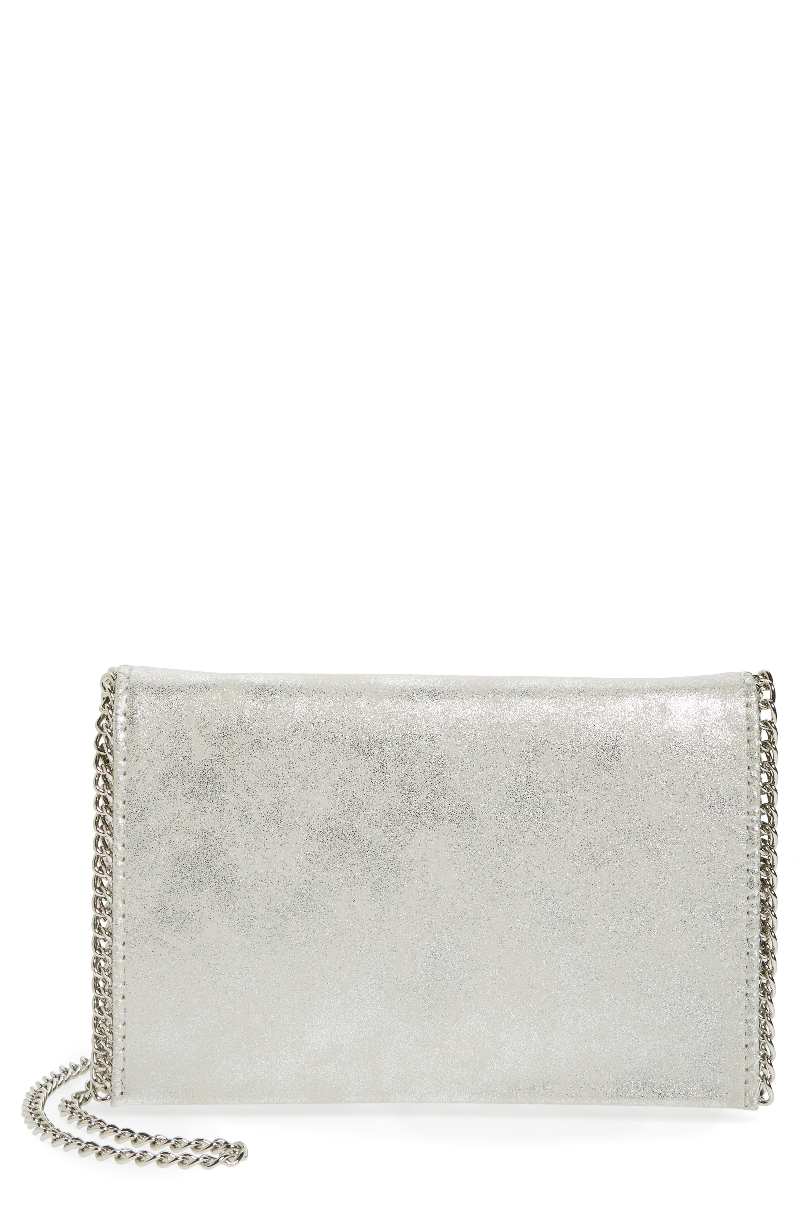 Faux Leather Crossbody Clutch,                             Main thumbnail 5, color,