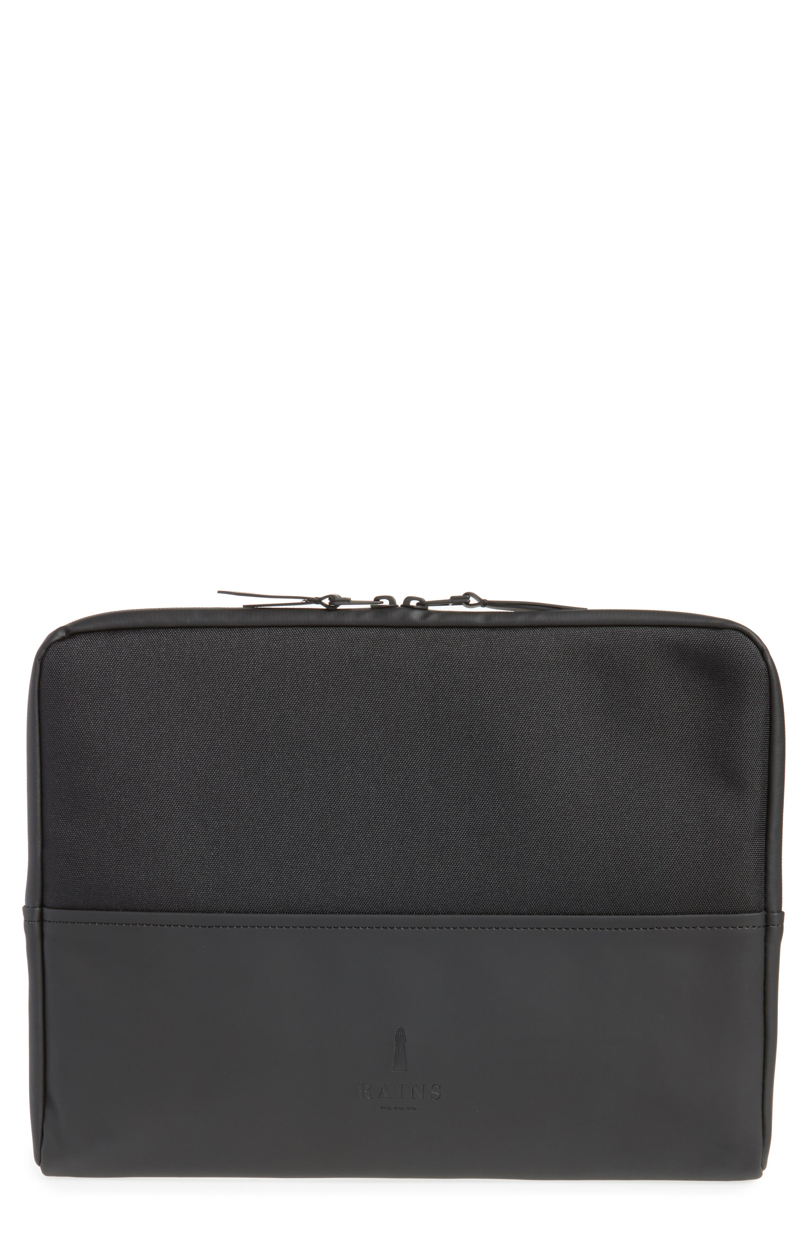 RAINS 13-Inch Laptop Sleeve, Main, color, BLACK