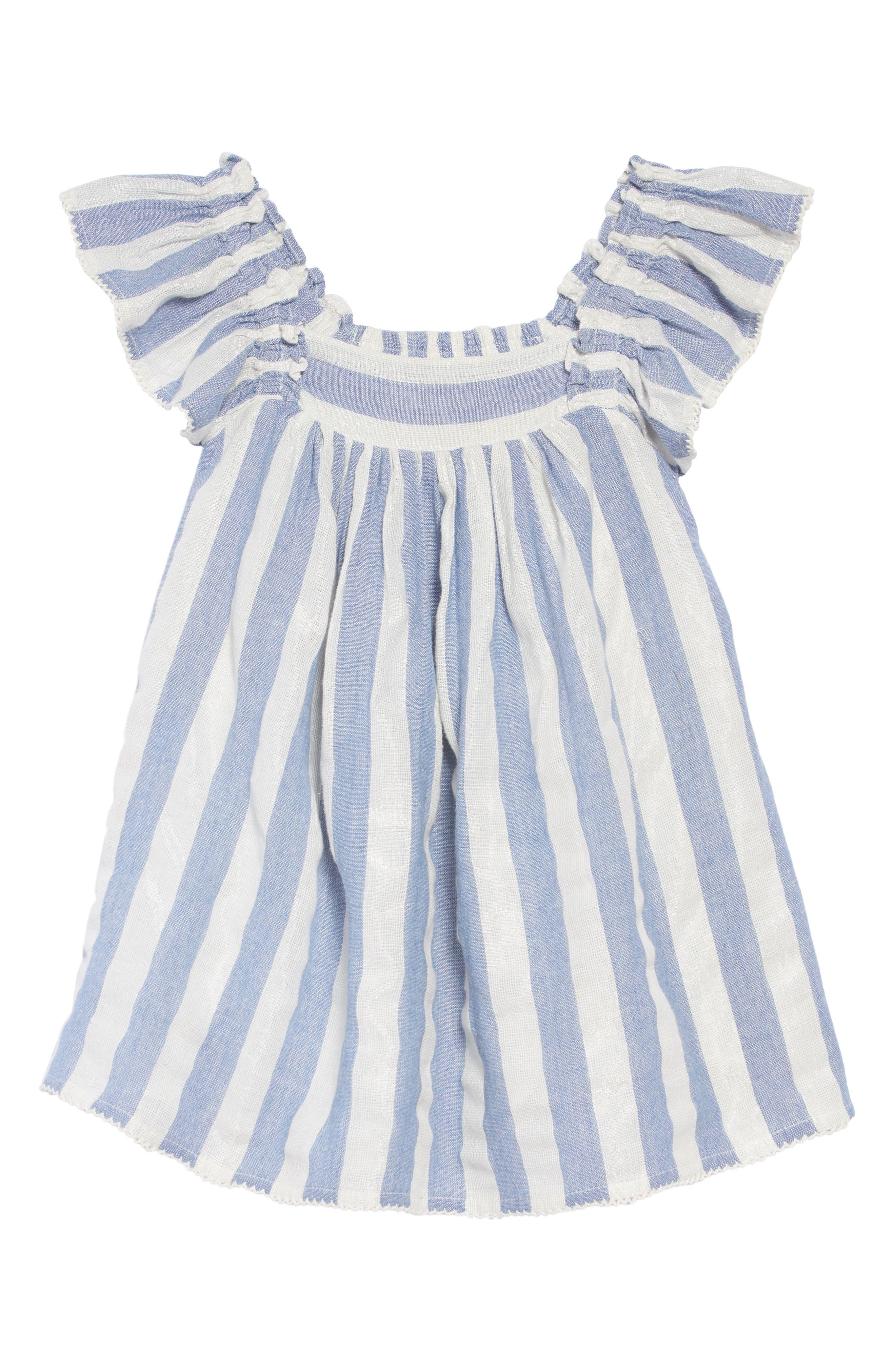 Chrissy Stripe Dress,                             Main thumbnail 1, color,                             BLUE