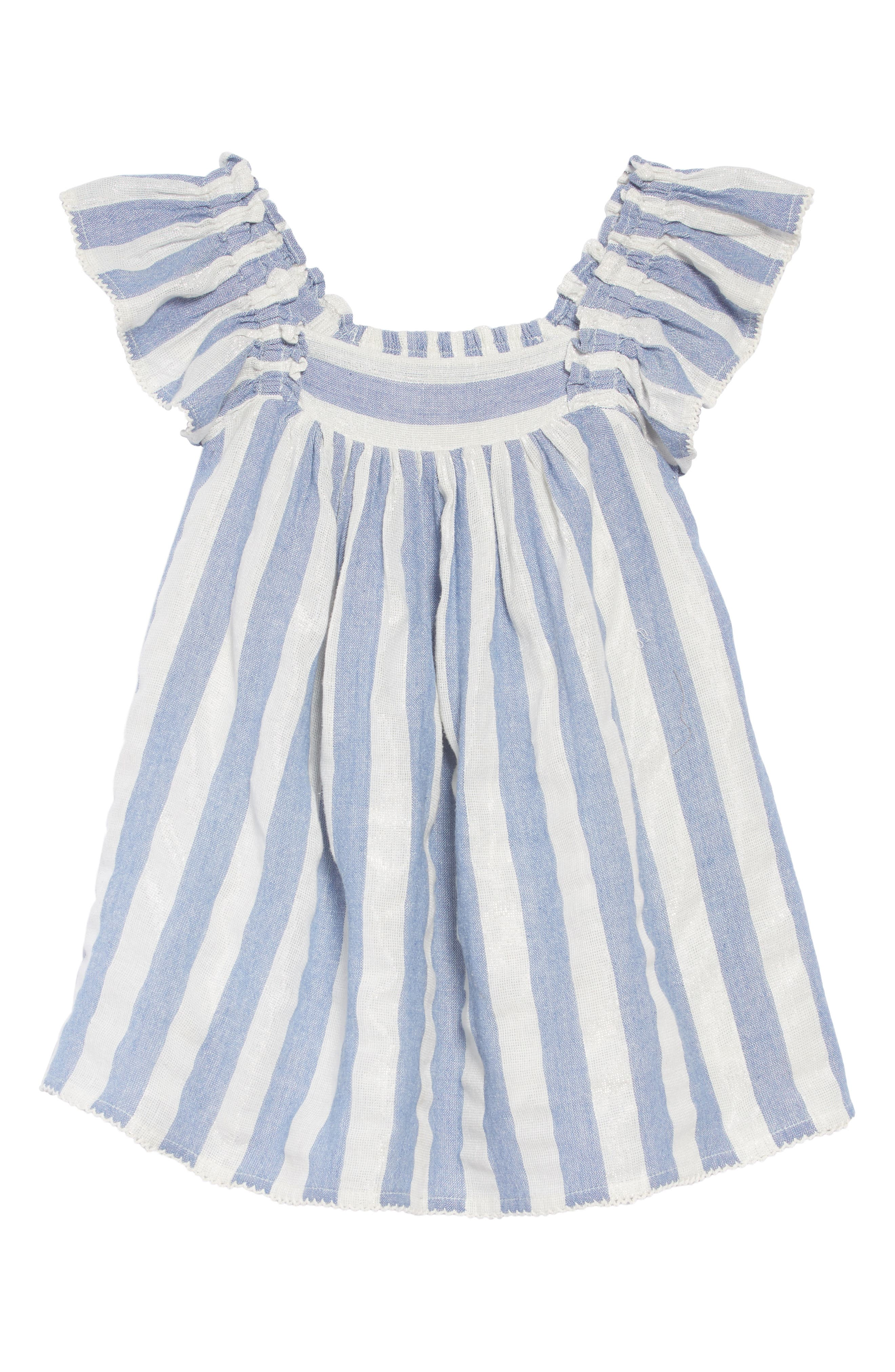 Chrissy Stripe Dress,                         Main,                         color, BLUE
