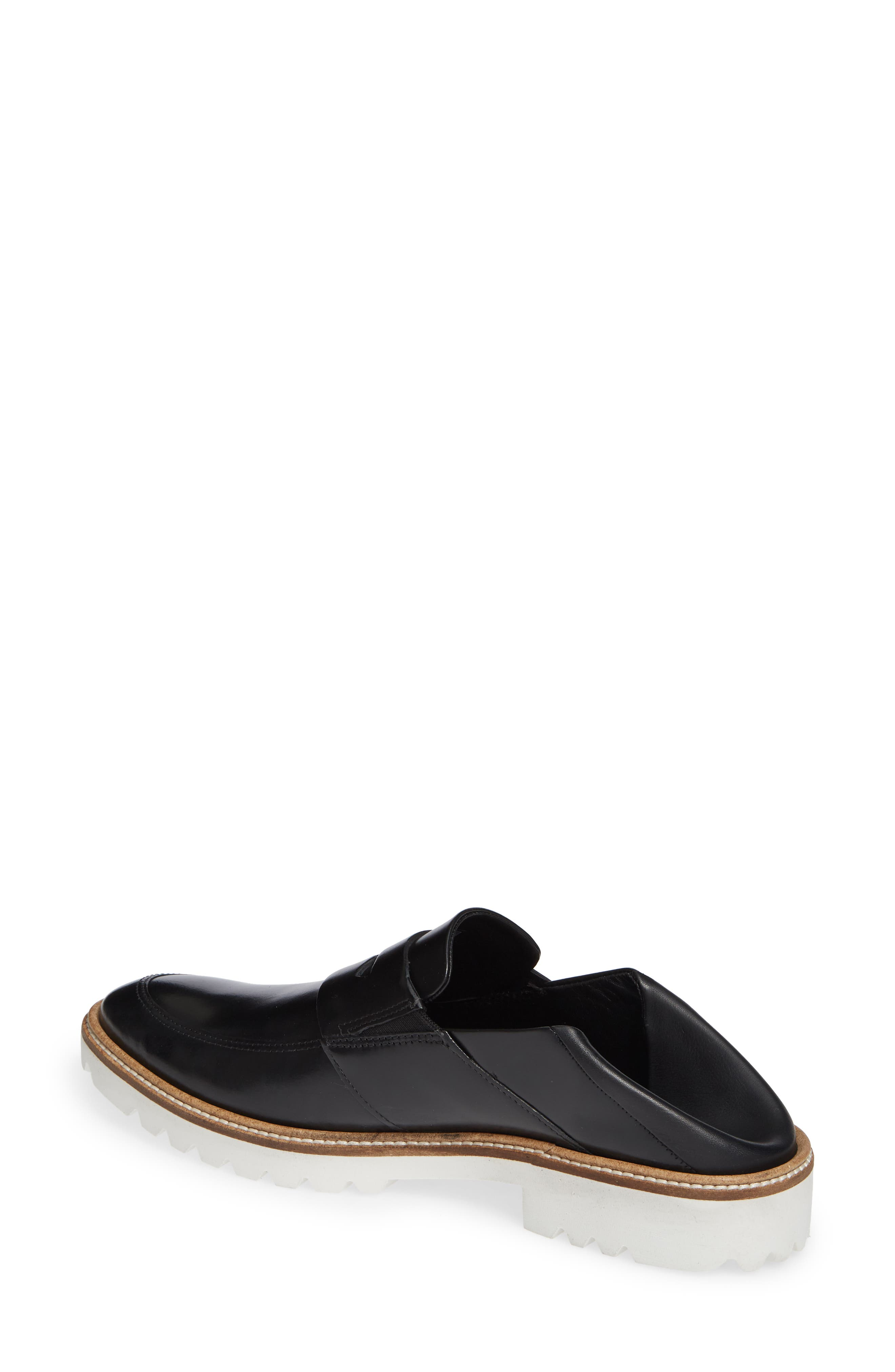 Incise Tailored Convertible Loafer,                             Alternate thumbnail 3, color,                             BLACK LEATHER