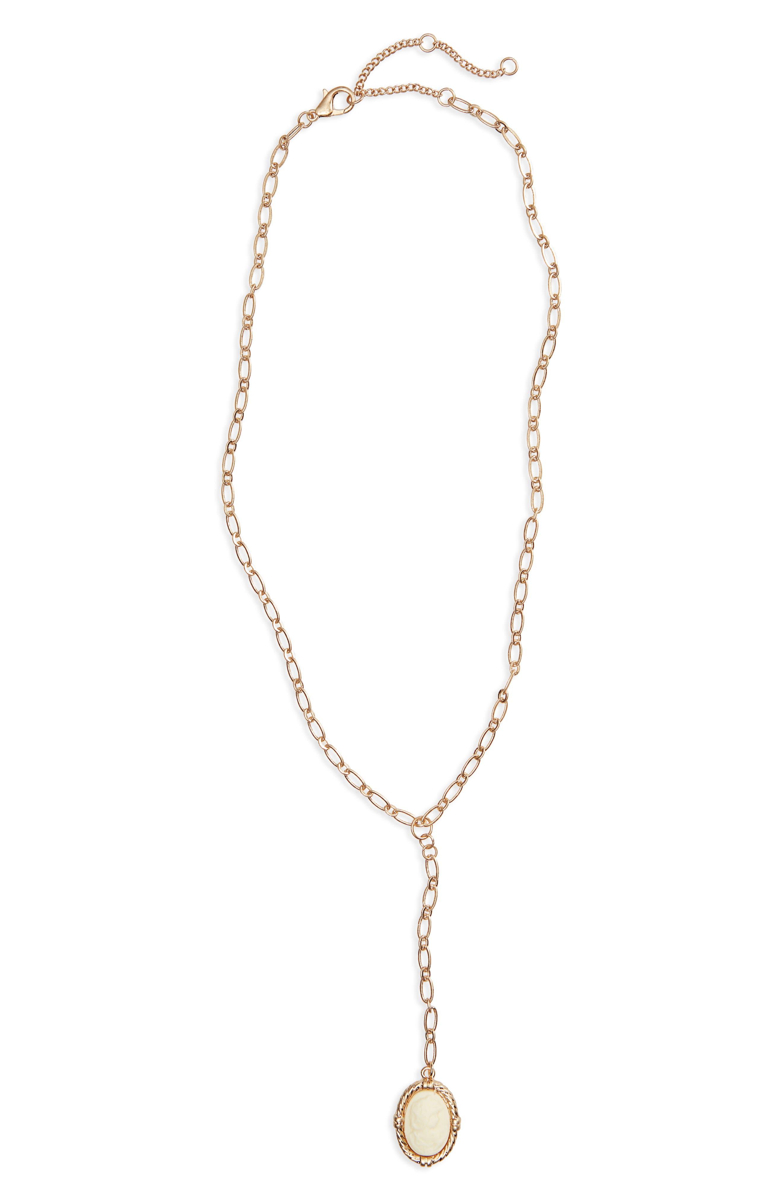 BP. Cameo Y-Necklace, Main, color, 710