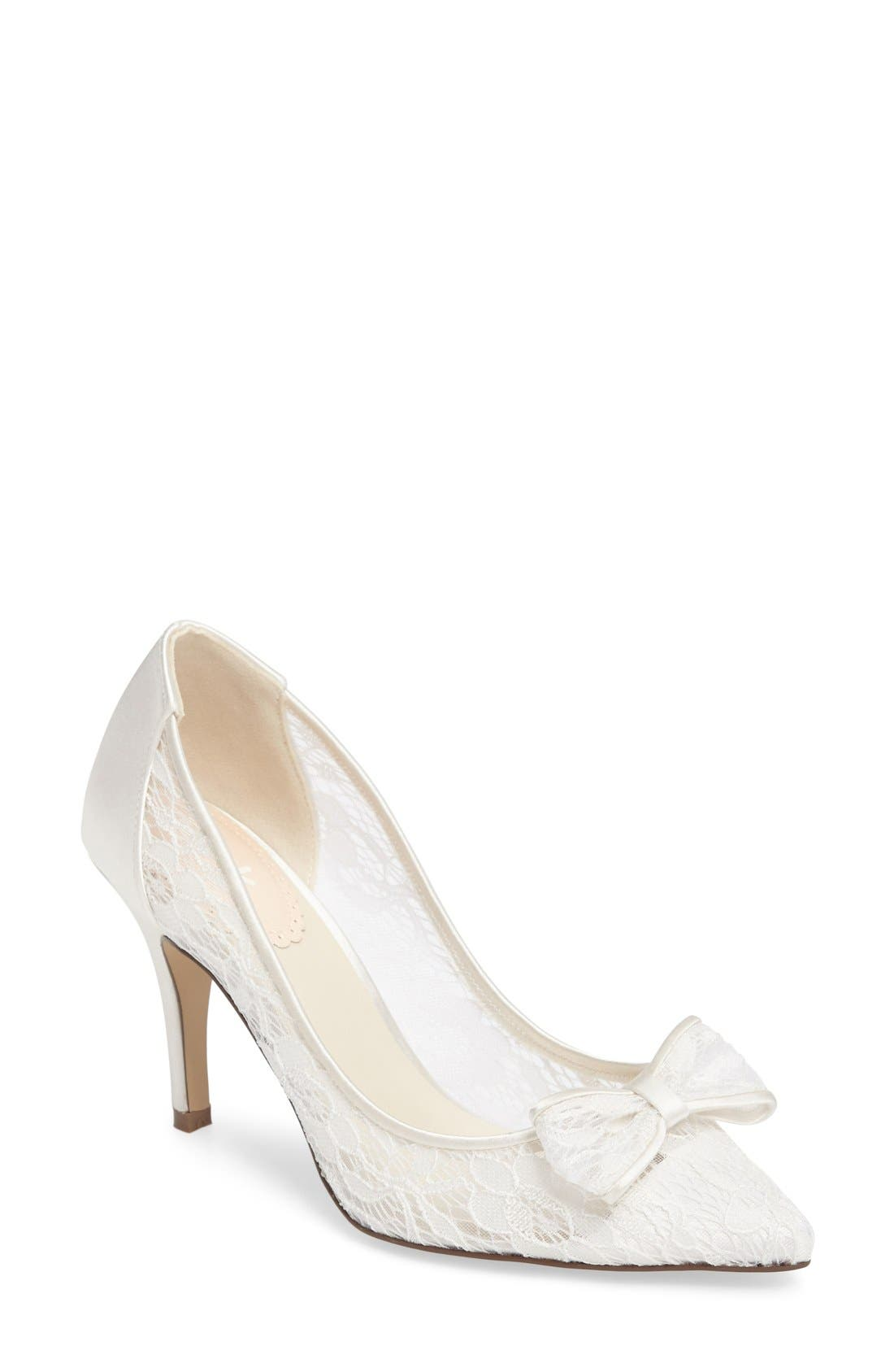 Promise Pointy Toe Lace Pump,                             Main thumbnail 1, color,                             900