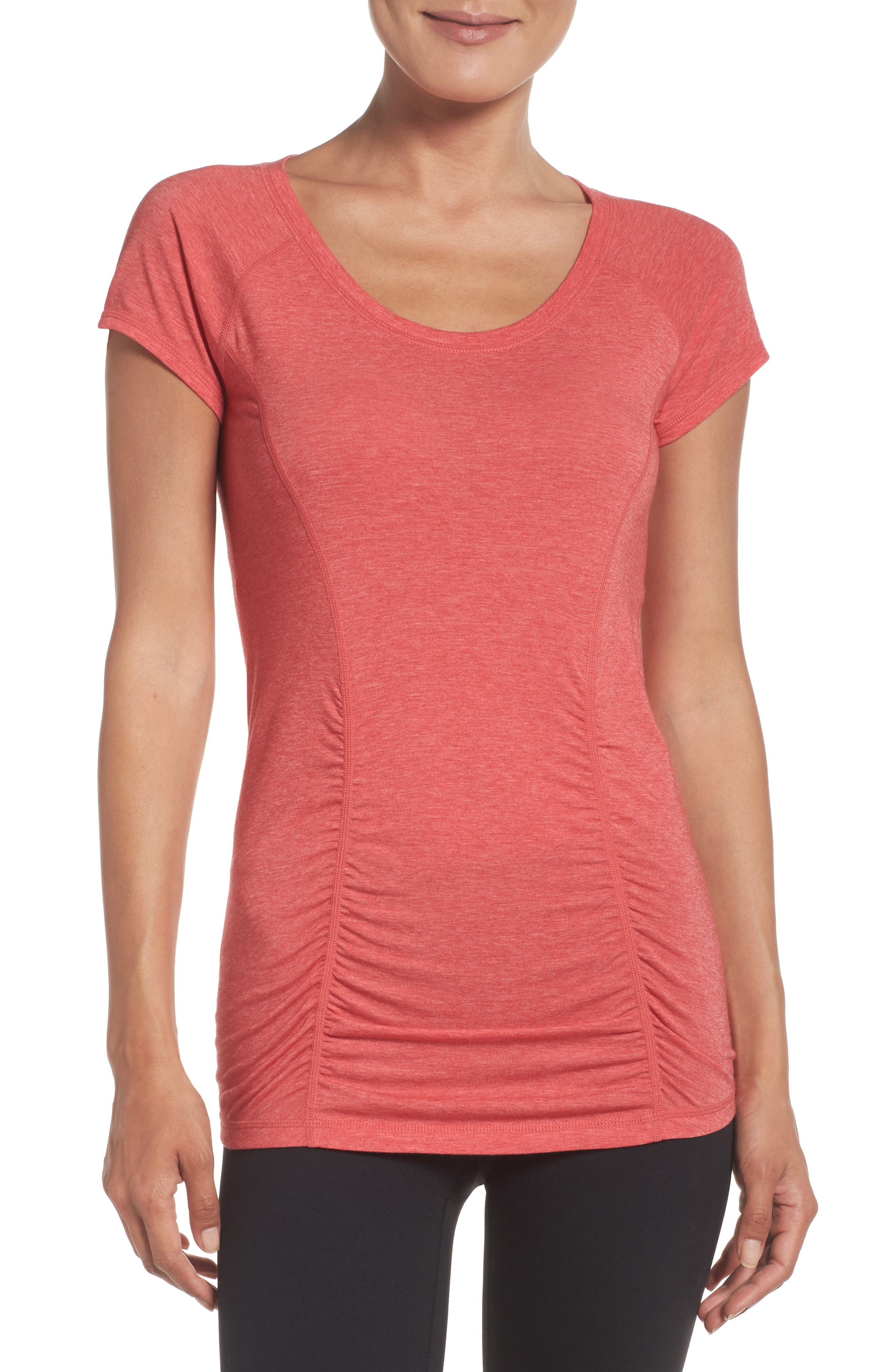 'Z 6' Ruched Tee,                             Main thumbnail 18, color,