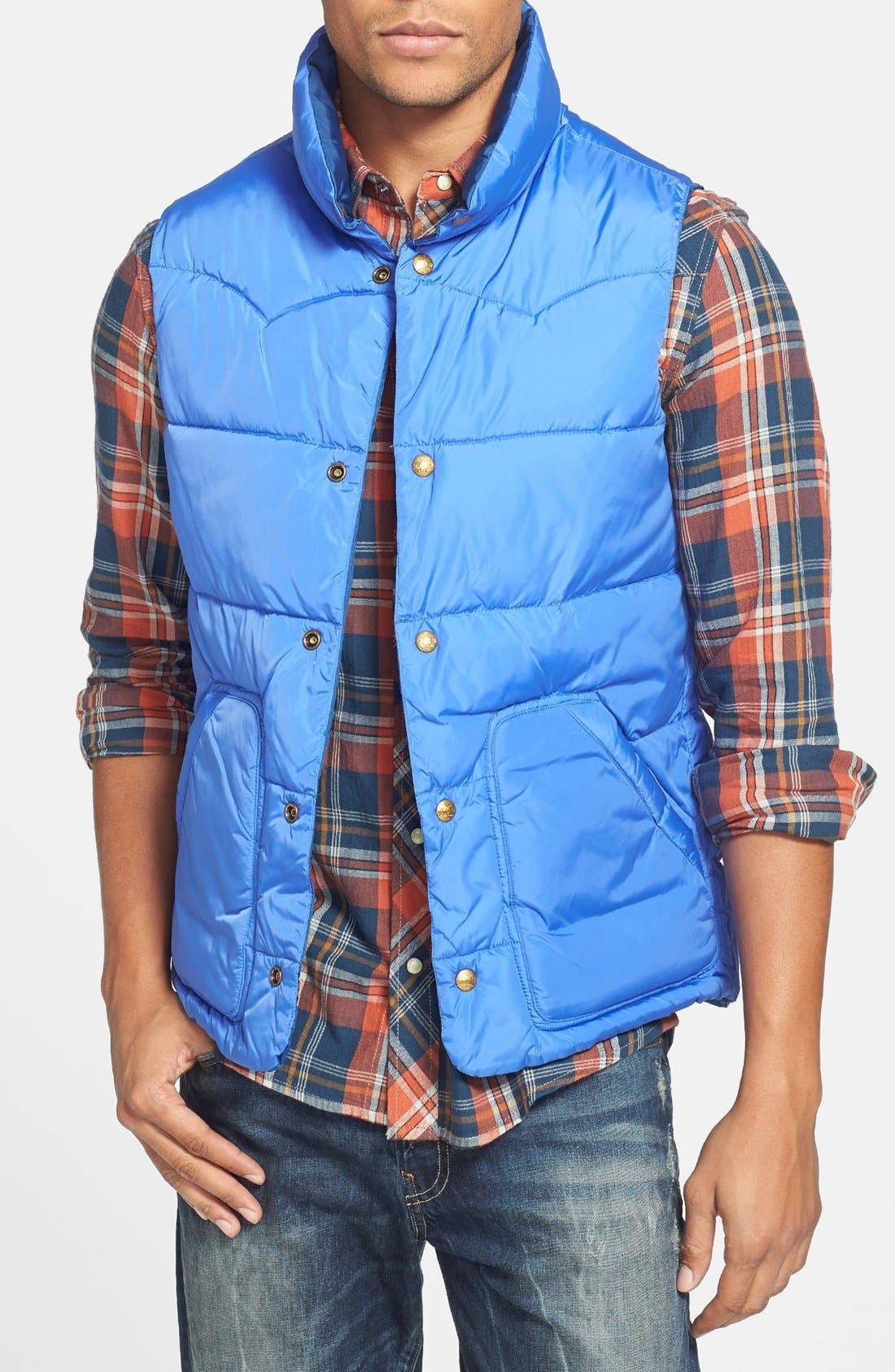 Reversible Quilted Vest,                             Alternate thumbnail 5, color,