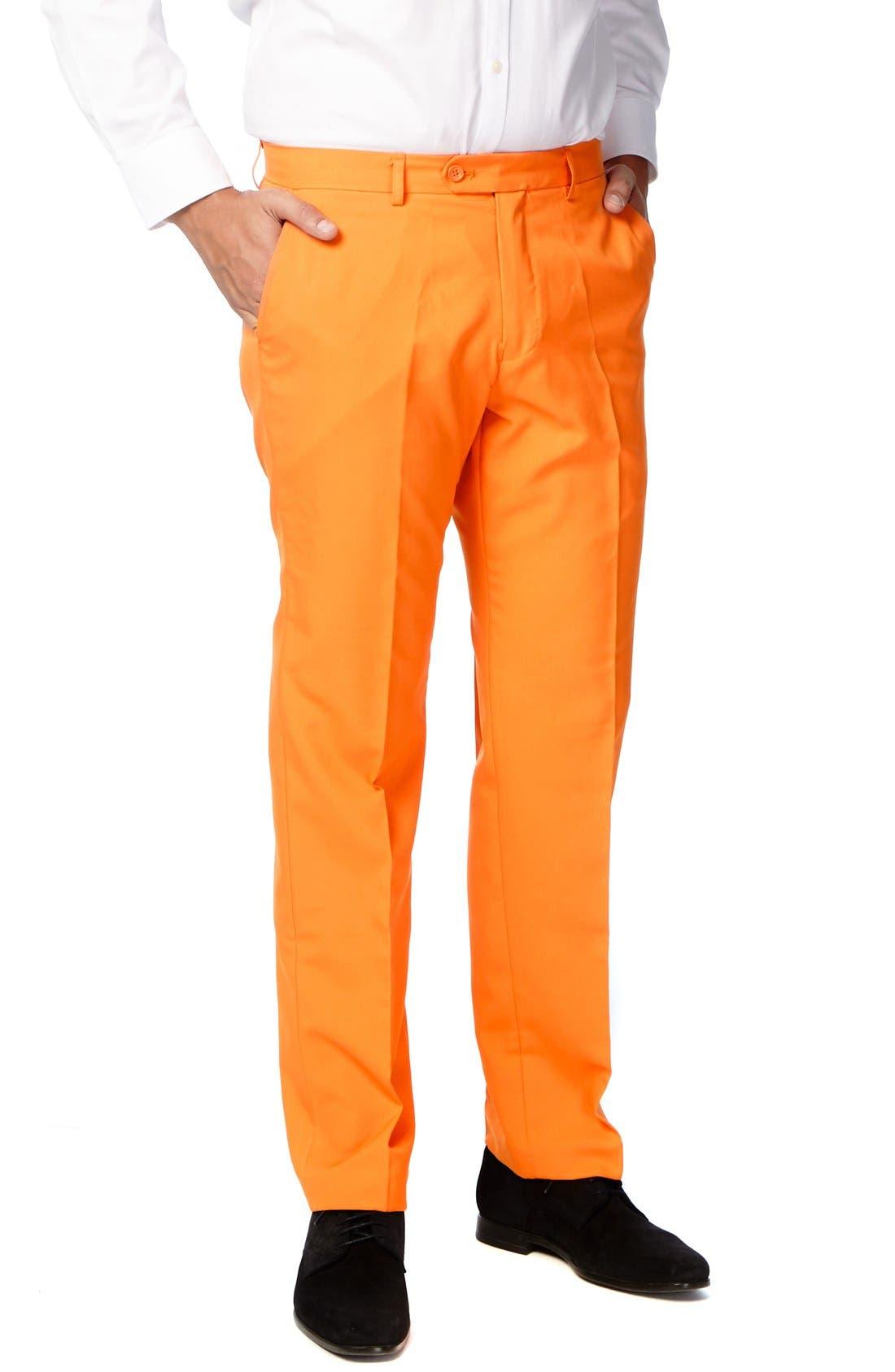 'The Orange' Trim Fit Two-Piece Suit with Tie,                             Alternate thumbnail 3, color,