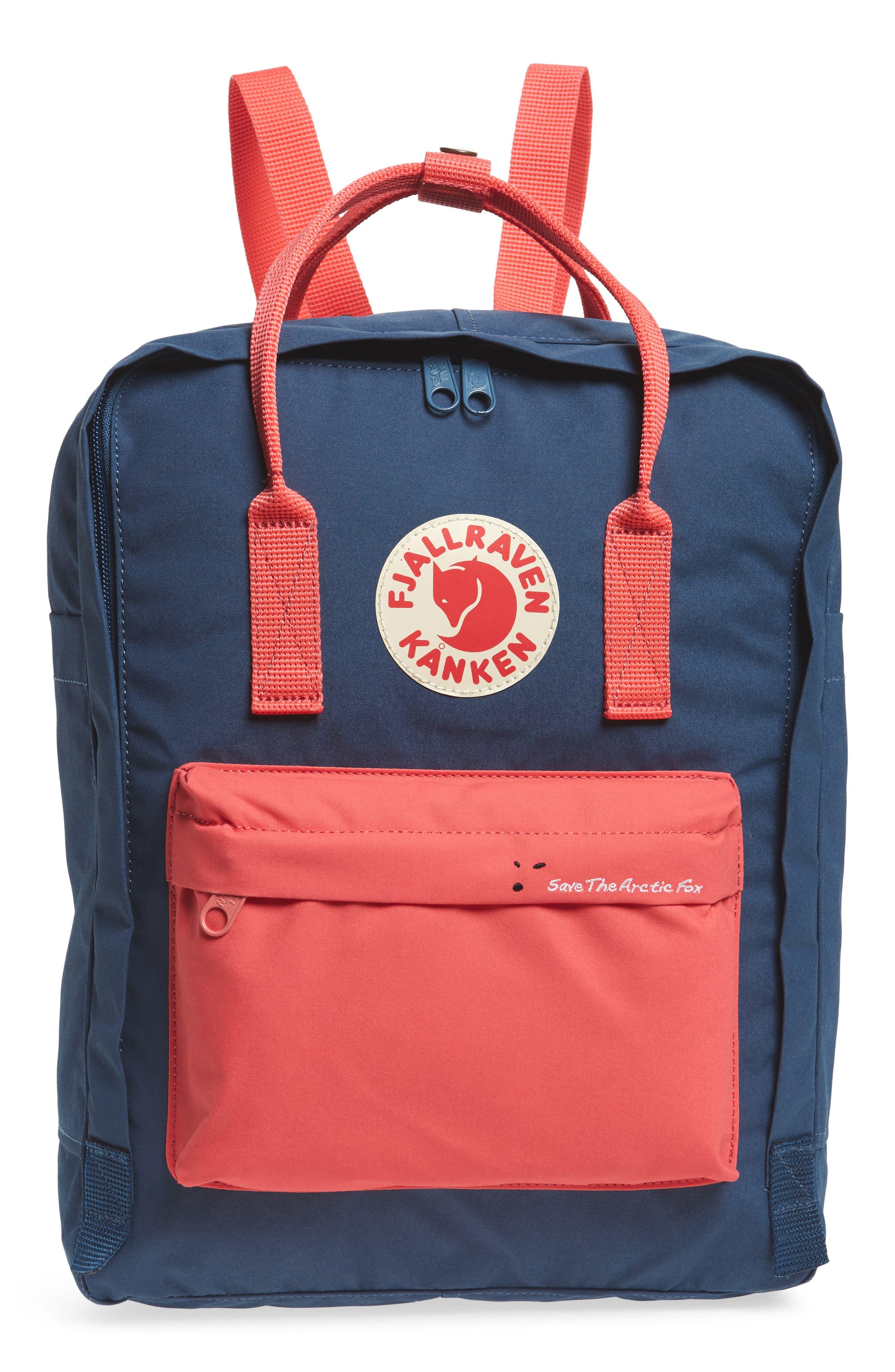 Arctic Fox Kånken Backpack,                         Main,                         color, ROYAL BLUE/ PEACH PINK