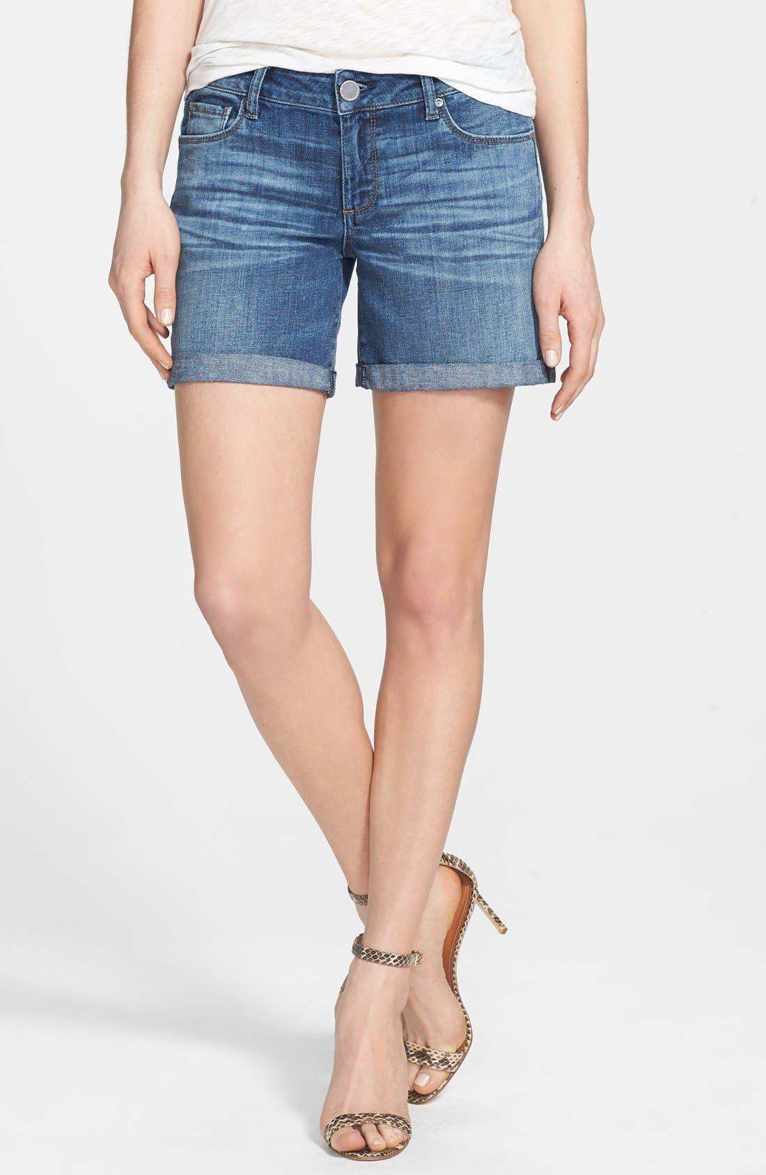 'Karlie' Boyfriend Denim Shorts,                             Main thumbnail 1, color,                             405