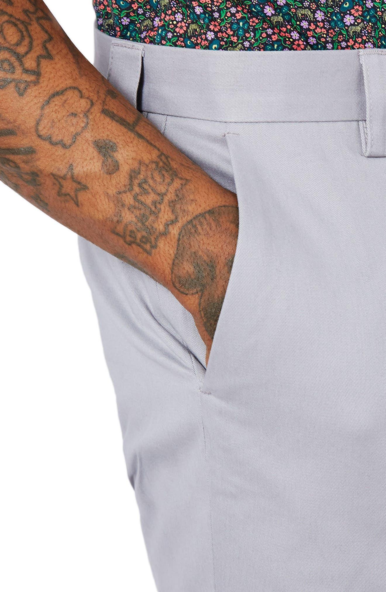Twill Trouser Shorts,                             Alternate thumbnail 3, color,                             020