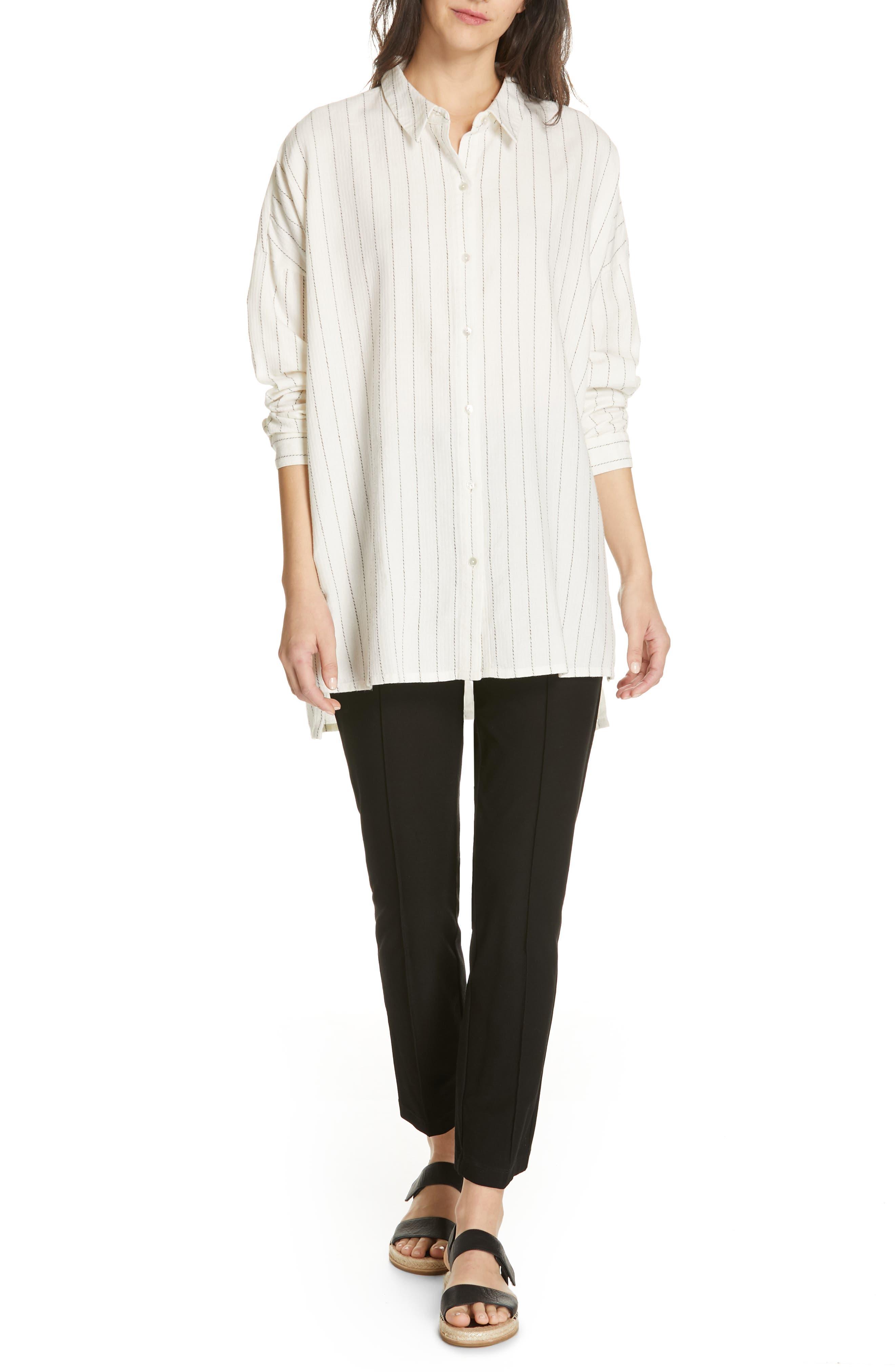 Boxy Stripe Shirt,                             Alternate thumbnail 7, color,                             ECRU