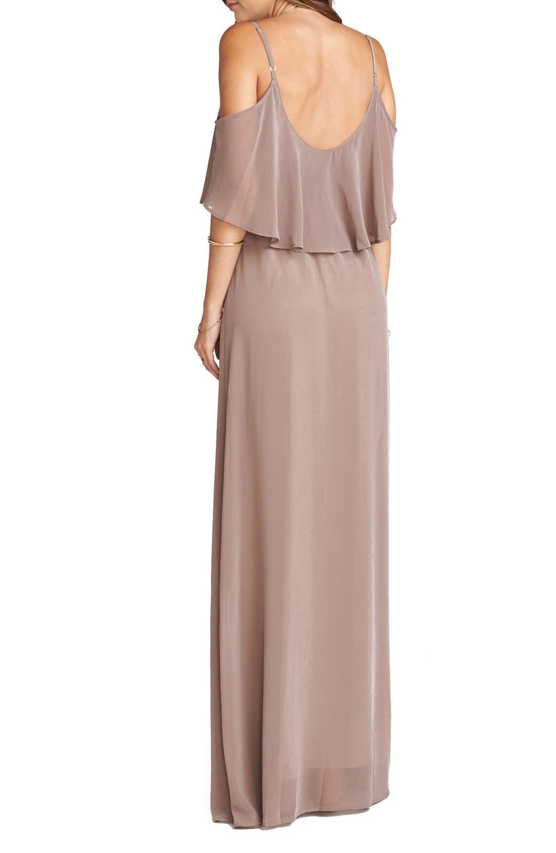 Caitlin Cold Shoulder Chiffon Gown,                             Alternate thumbnail 29, color,