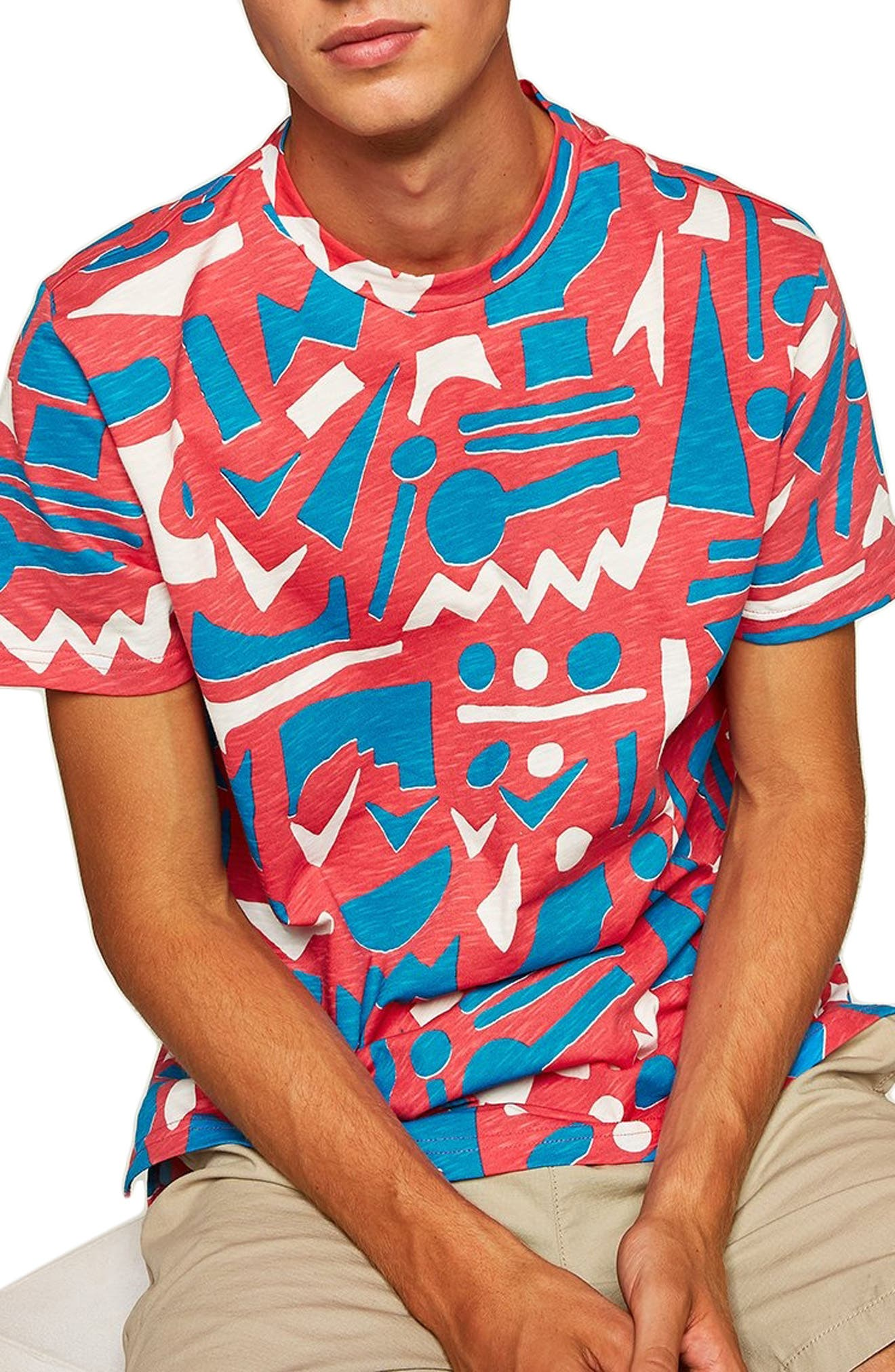 Geo Print T-Shirt,                             Main thumbnail 1, color,                             650