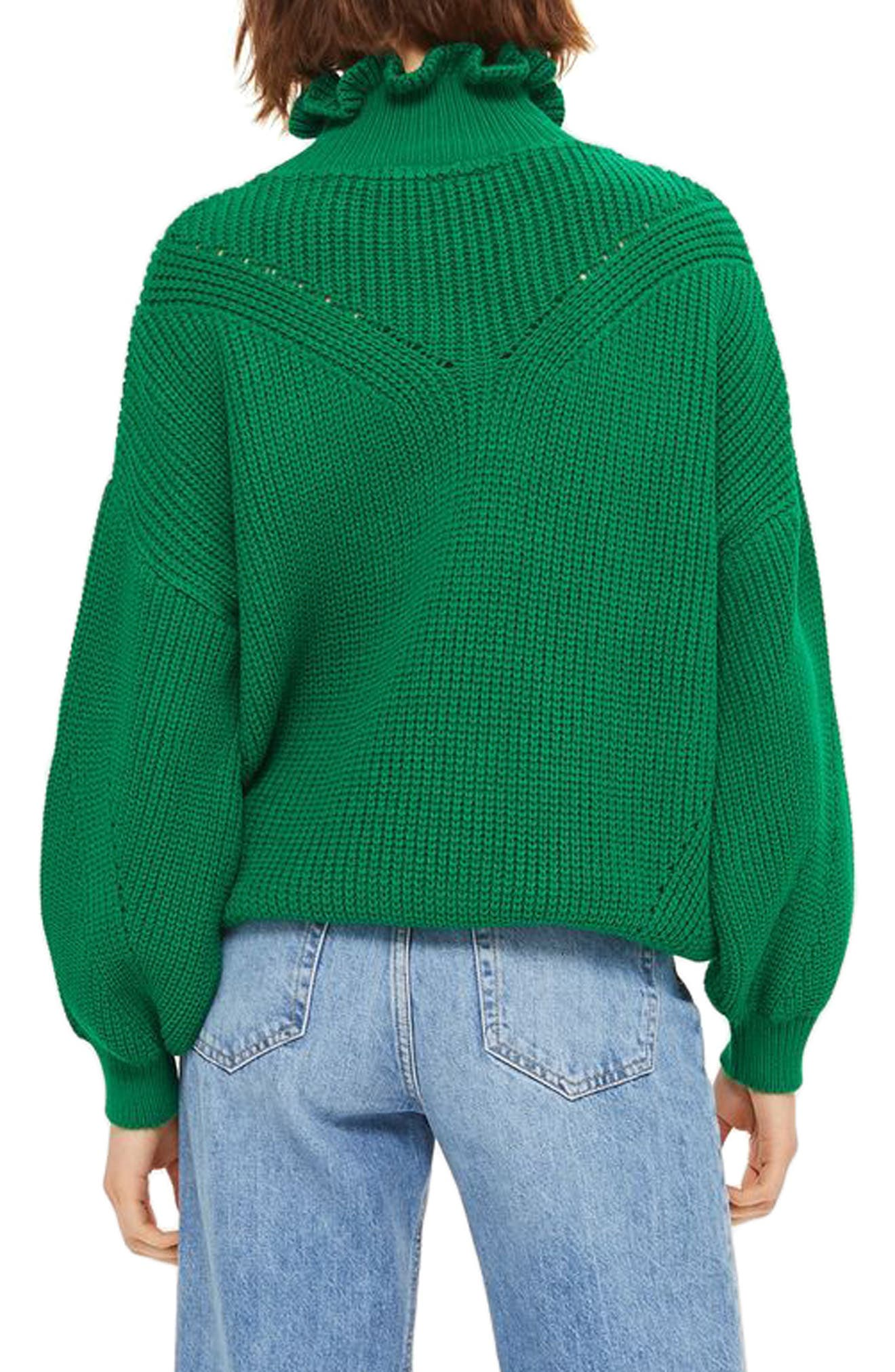 Frill Neck Sweater,                             Alternate thumbnail 2, color,                             300