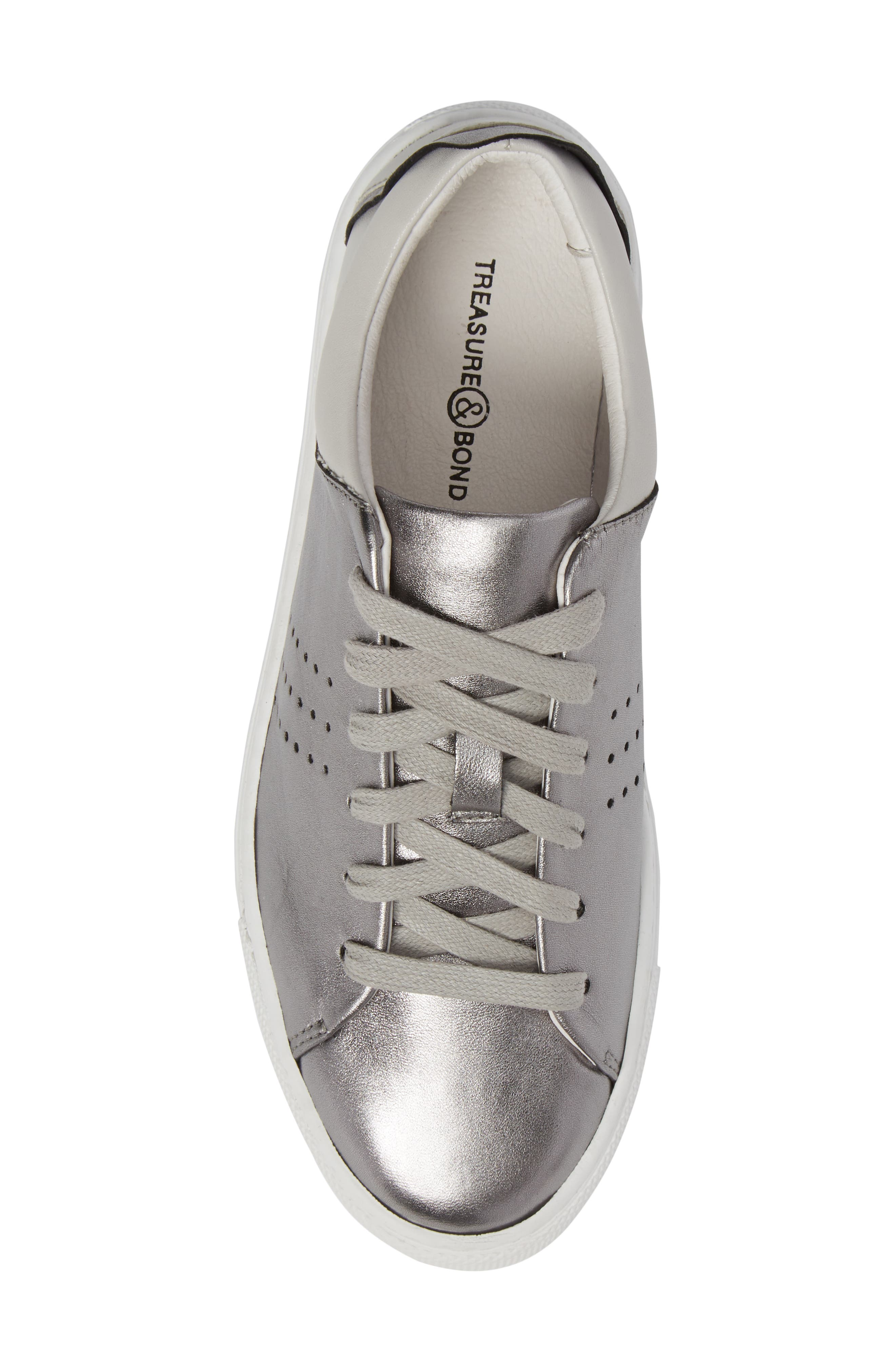 Splits Two-Tone Perforated Sneaker,                             Alternate thumbnail 5, color,                             045