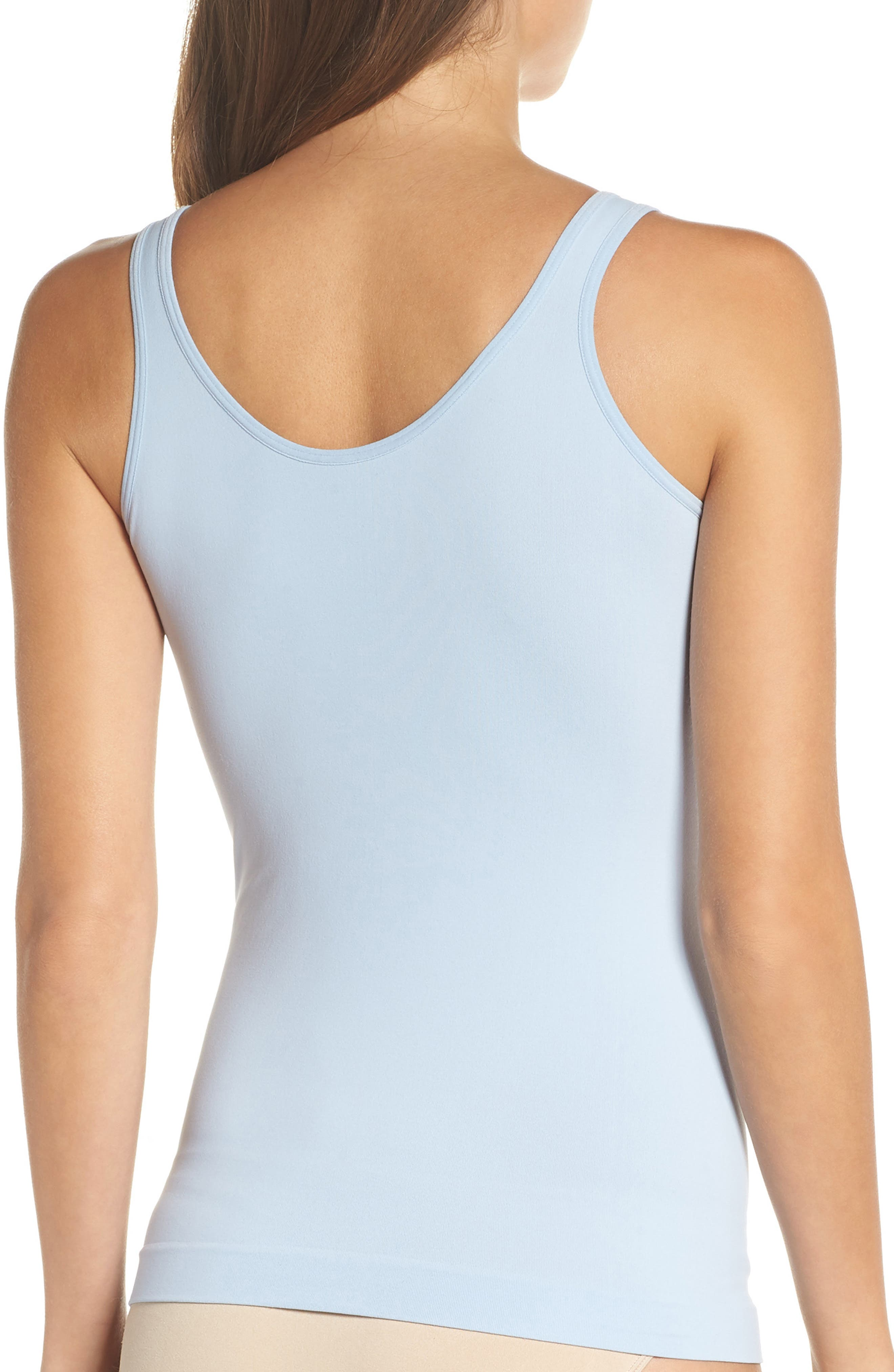 Seamless Two-Way Tank,                             Alternate thumbnail 3, color,                             BLUE CASHMERE