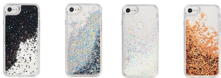 MixBin SnowGlobe Glitter iPhone Cases.