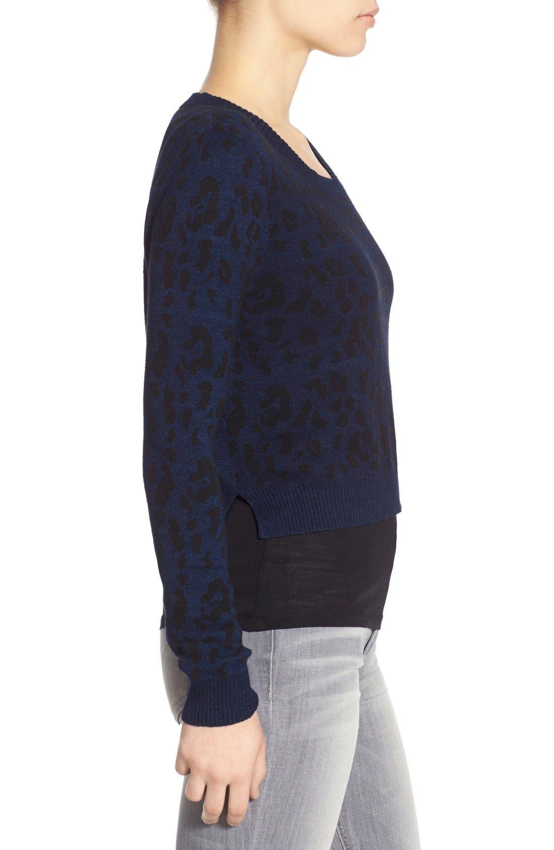 JOE'S,                             Leopard Print Crop Sweater,                             Alternate thumbnail 2, color,                             440