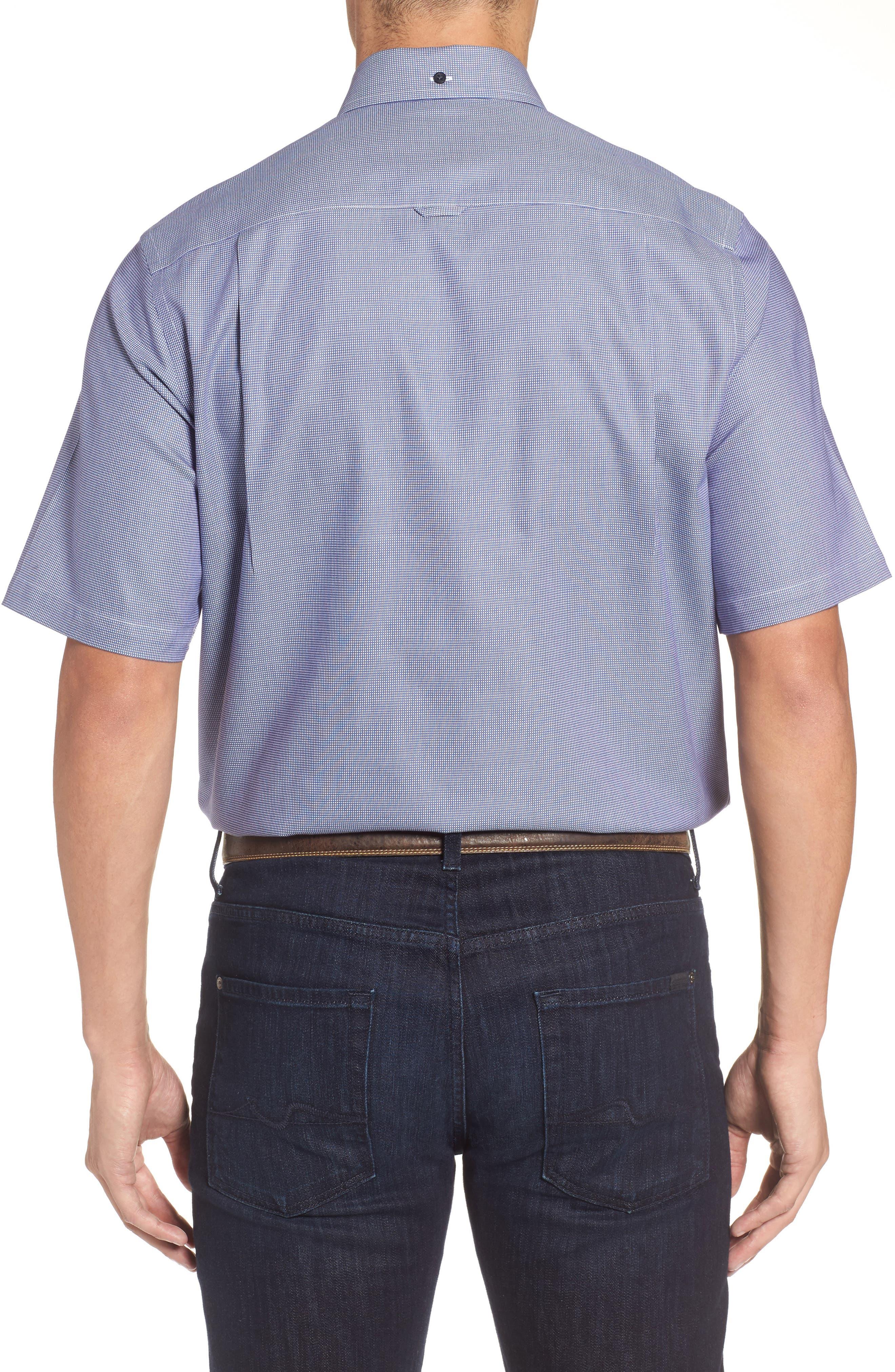 'Classic' Smartcare<sup>™</sup> Regular Fit Short Sleeve Cotton Sport Shirt,                             Alternate thumbnail 53, color,