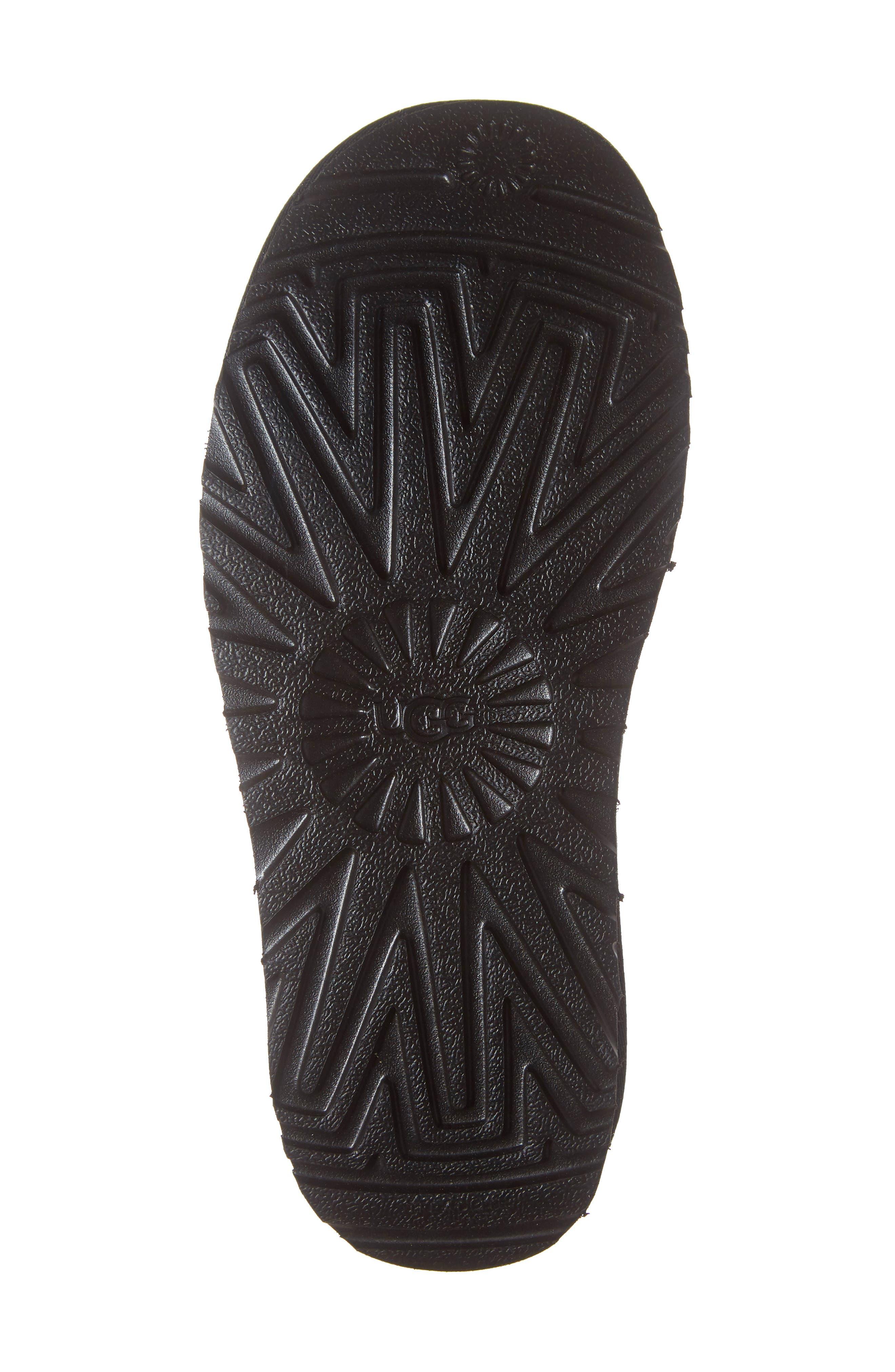 x UGG<sup>®</sup> Genuine Shearling Slide Sandal,                             Alternate thumbnail 6, color,                             001