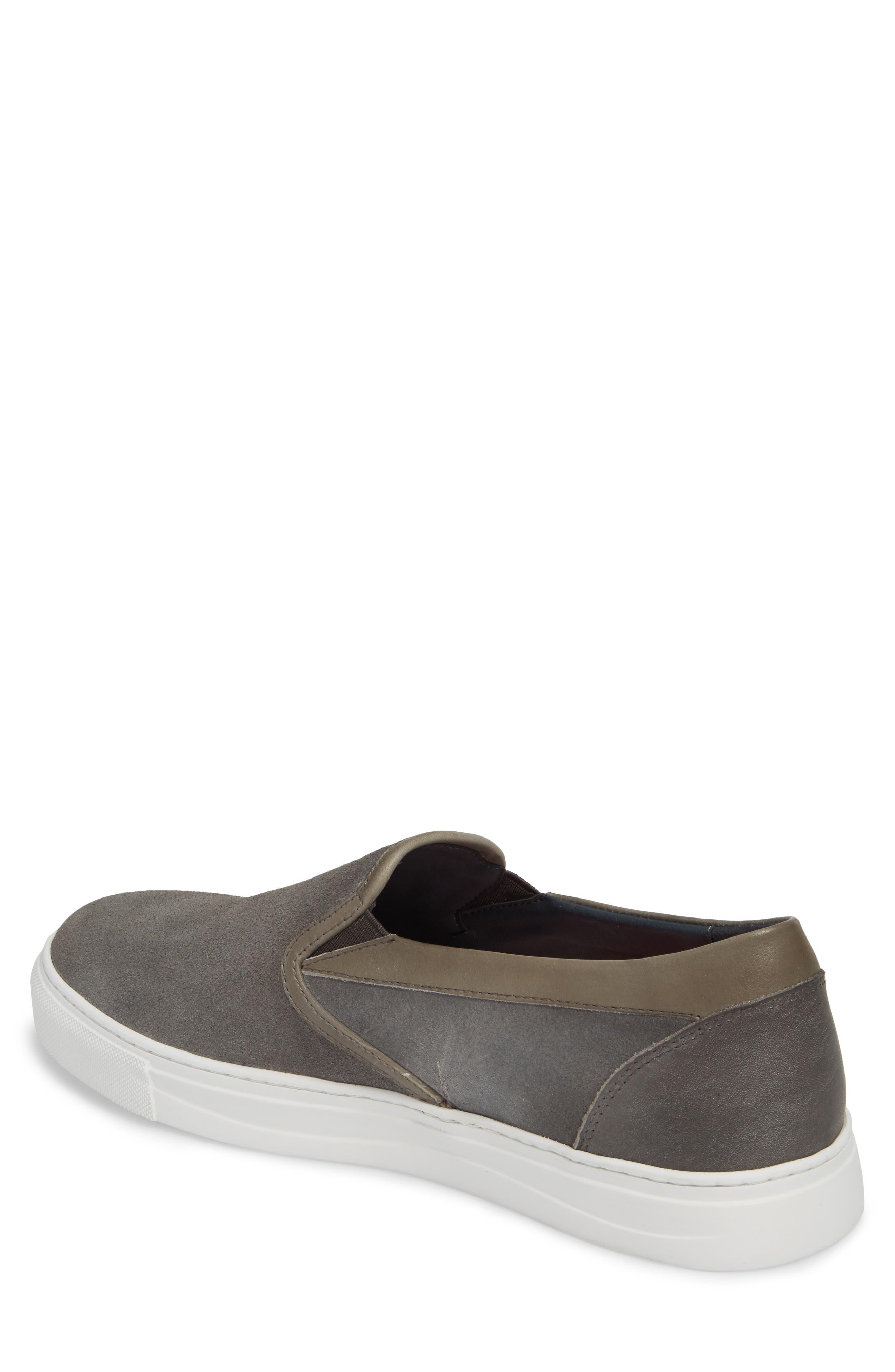 Vane Slip-On Sneaker,                             Alternate thumbnail 2, color,                             GREY SUEDE/ LEATHER