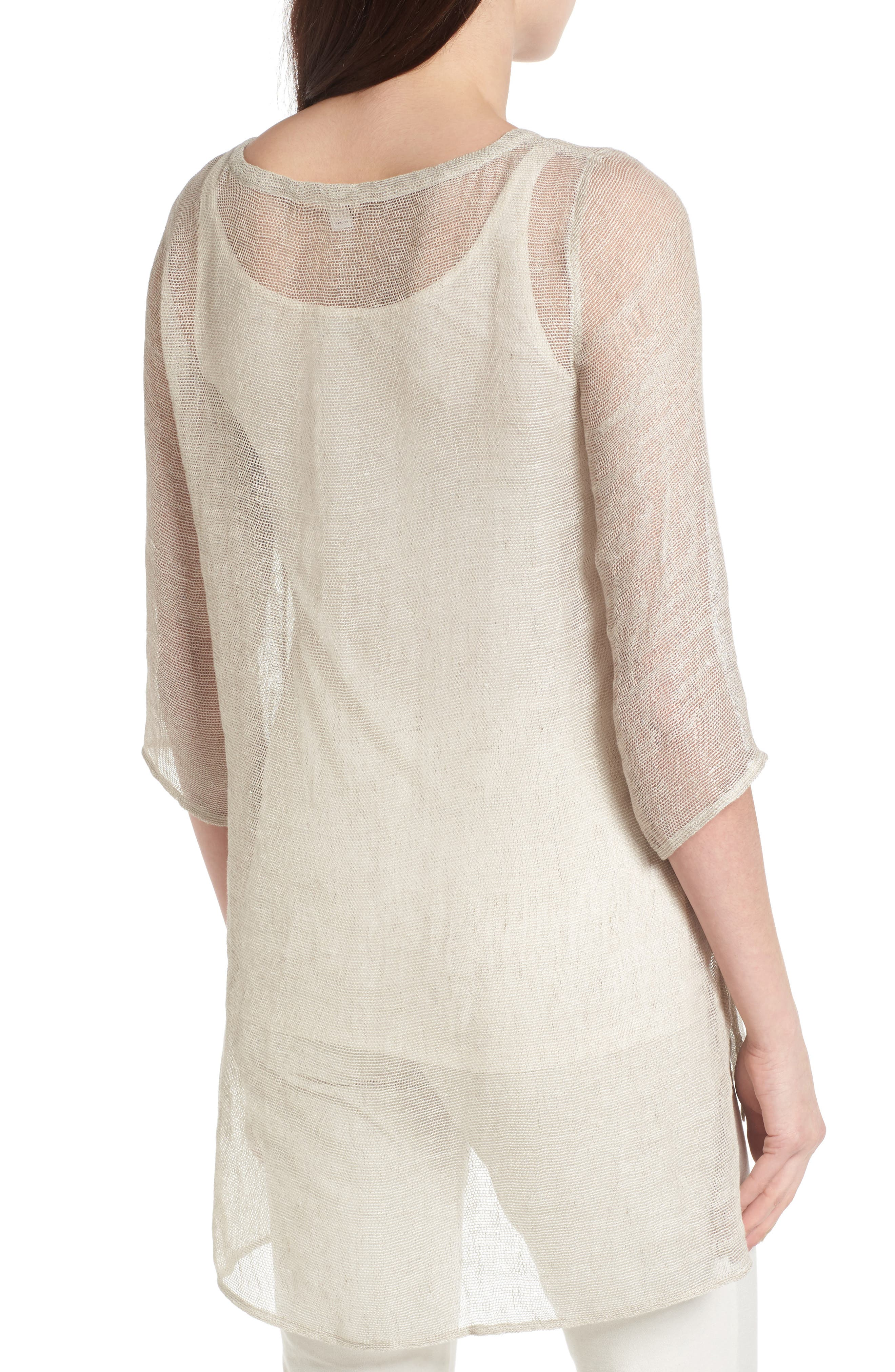 Organic Linen Blend Tunic,                             Alternate thumbnail 7, color,