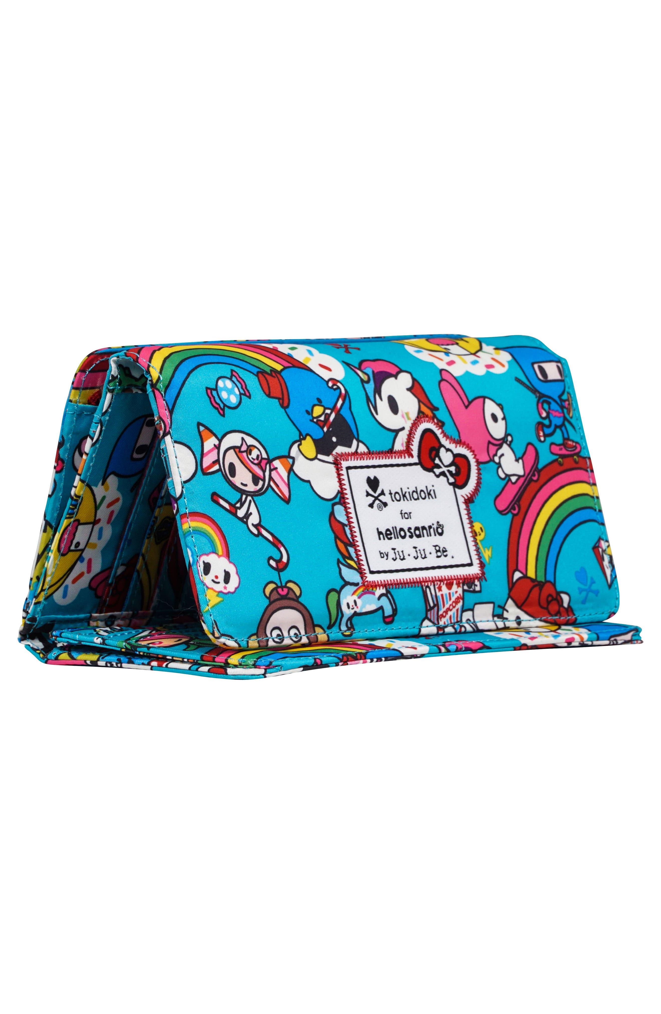 x tokidoki for Hello Sanrio Rainbow Dreams Be Rich Trifold Clutch Wallet,                             Alternate thumbnail 2, color,                             RAINBOW DREAMS