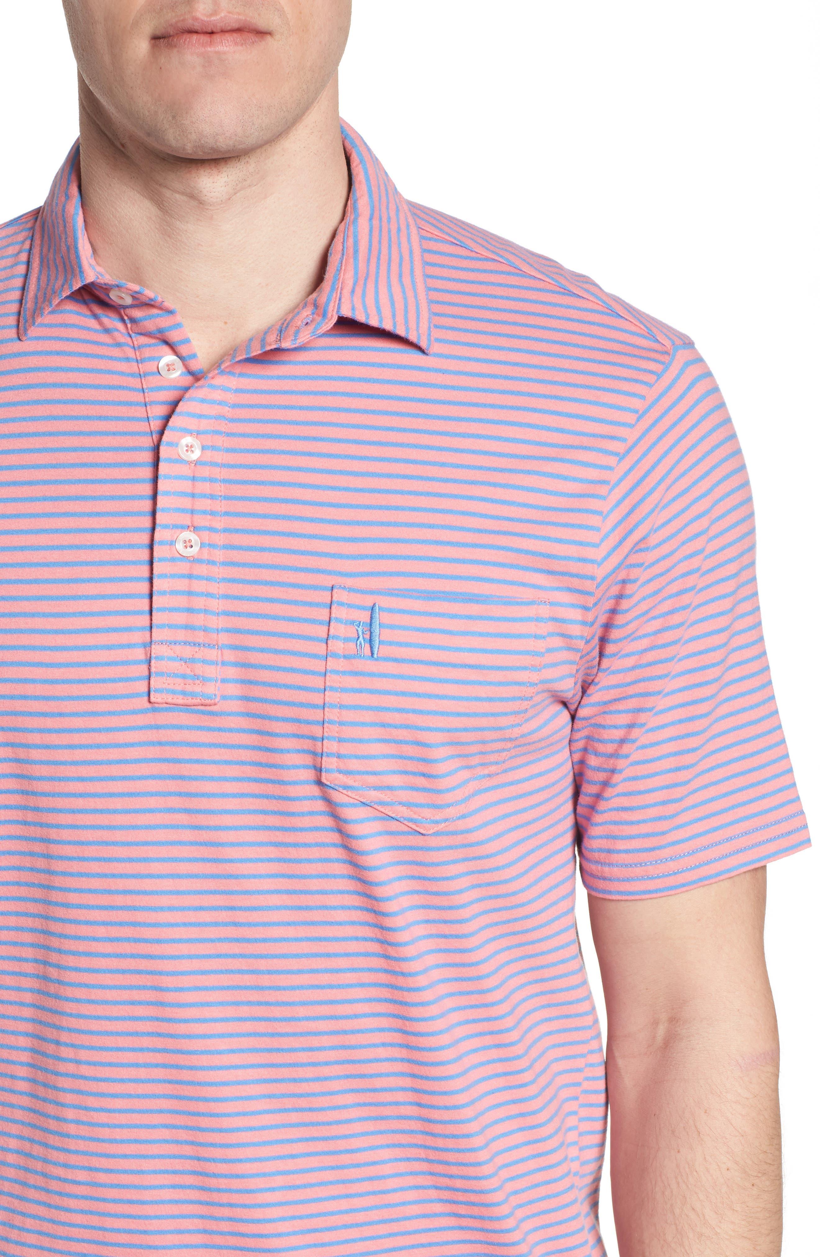 Macon Regular Fit Stripe Polo,                             Alternate thumbnail 8, color,